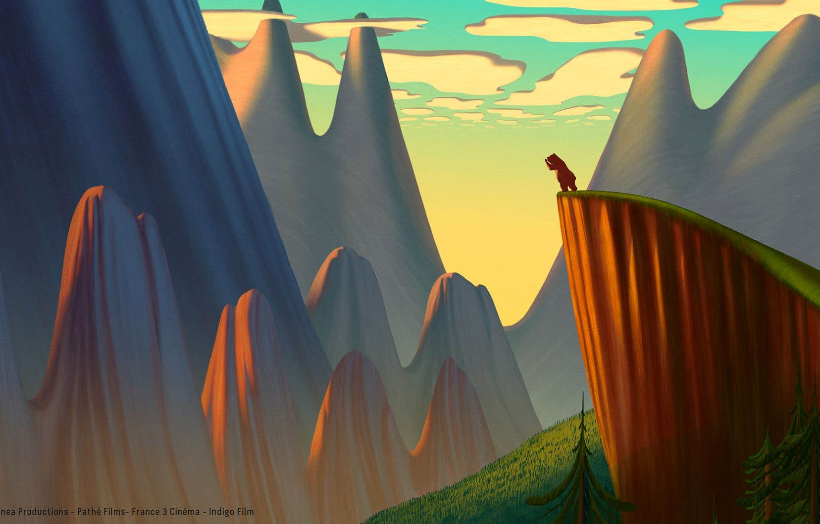 «La grande force visionnaire de Dino Buzzati reposait sur son graphisme, dont j'ai voulu utiliser la richesse pour rendre le dessin joyeux et poétique. Alpiniste, il venait de la Lombardie. À ses yeux, les montagnes siciliennes semblaient exotiques. Les ours pouvaient y parler aux hommes», explique Lorenzo Mattotti.