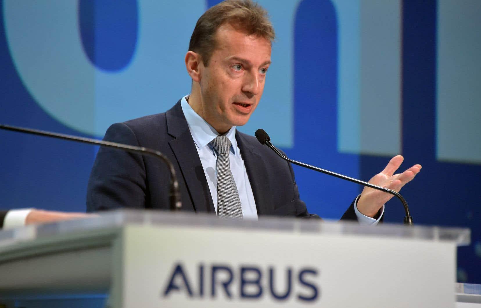 Le président et chef de la direction d'Airbus, Guillaume Faury