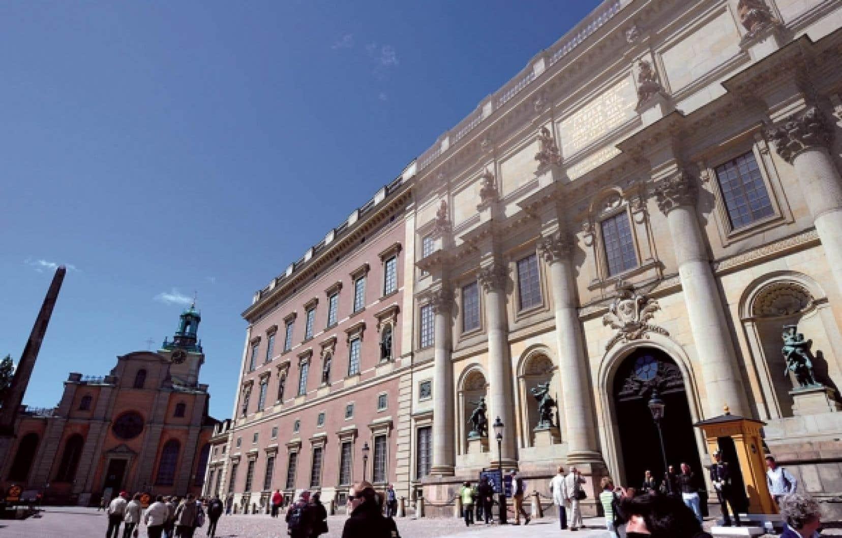 Le château royal à Stockholm, en Suède.<br />