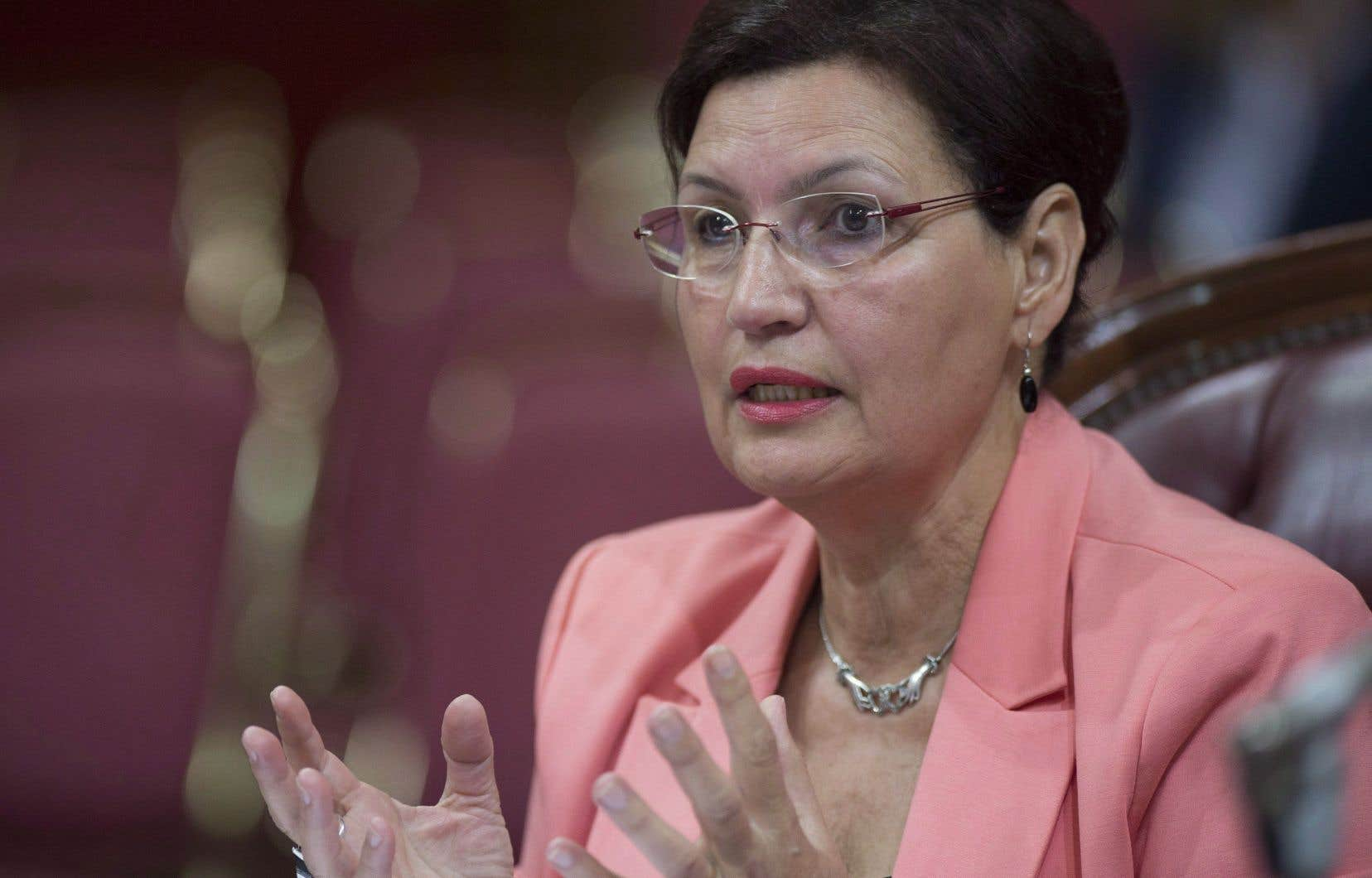 La déléguée générale du Québec à Dakar, Fatima Houda-Pepin