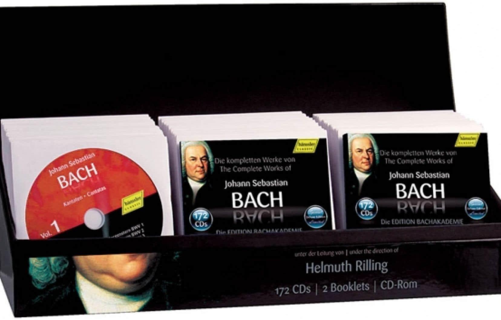 Pour les amateurs de gros cadeaux, Haenssler ressort son intégrale Bach avec un prix divisé par dix: 190$<br />