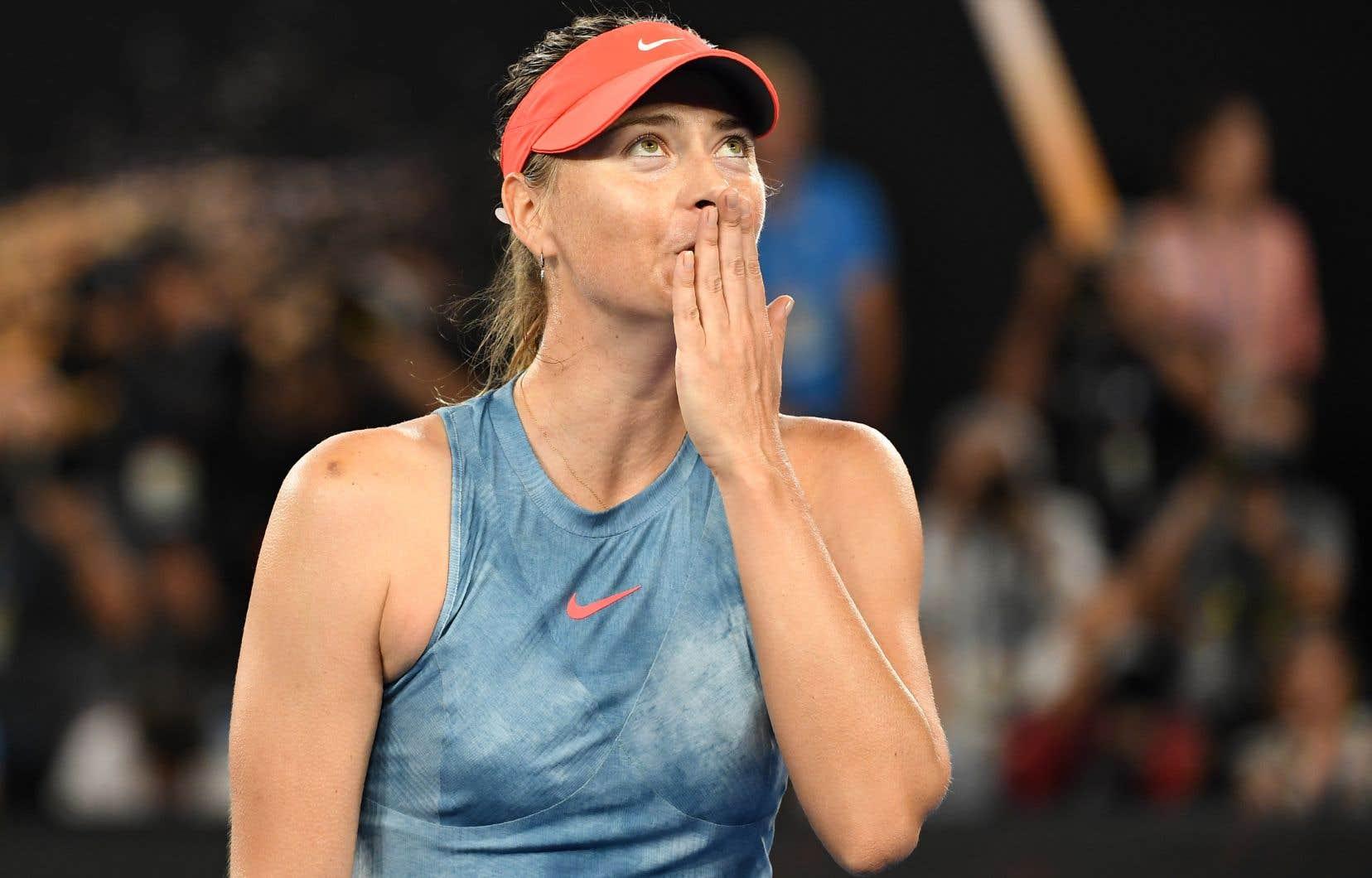 Sharapova estl'une des très rares championnes à avoir remporté les quatre tournois majeurs: Wimbledon en 2004, l'US Open en 2006, l'Open d'Australie en 2008 et Roland-Garros à deux reprises, en 2012 puis en 2014.