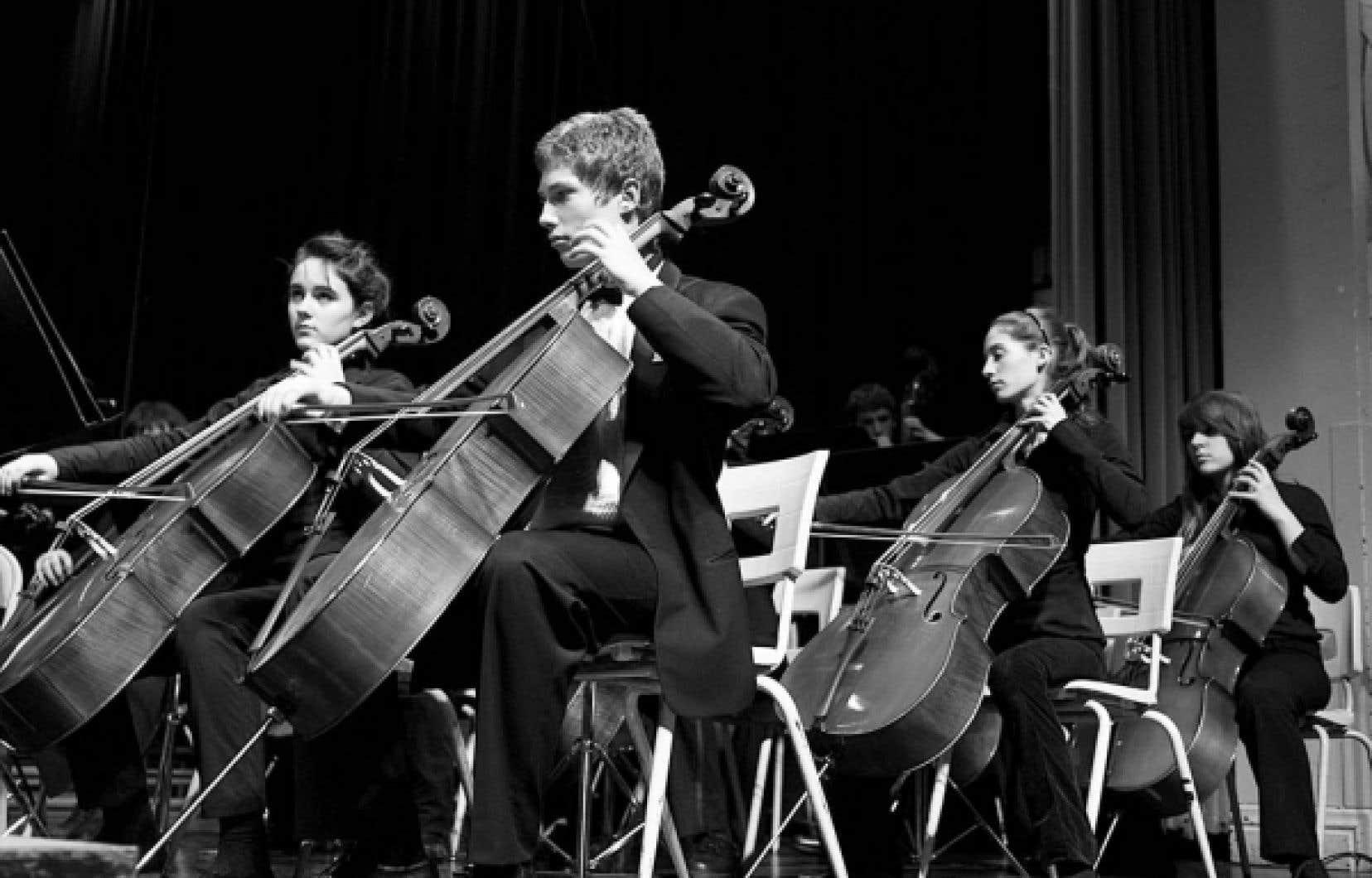 L'Orchestre Joseph-François-Perrault lors de concerts donnés les 10 et 11 décembre 2008<br />