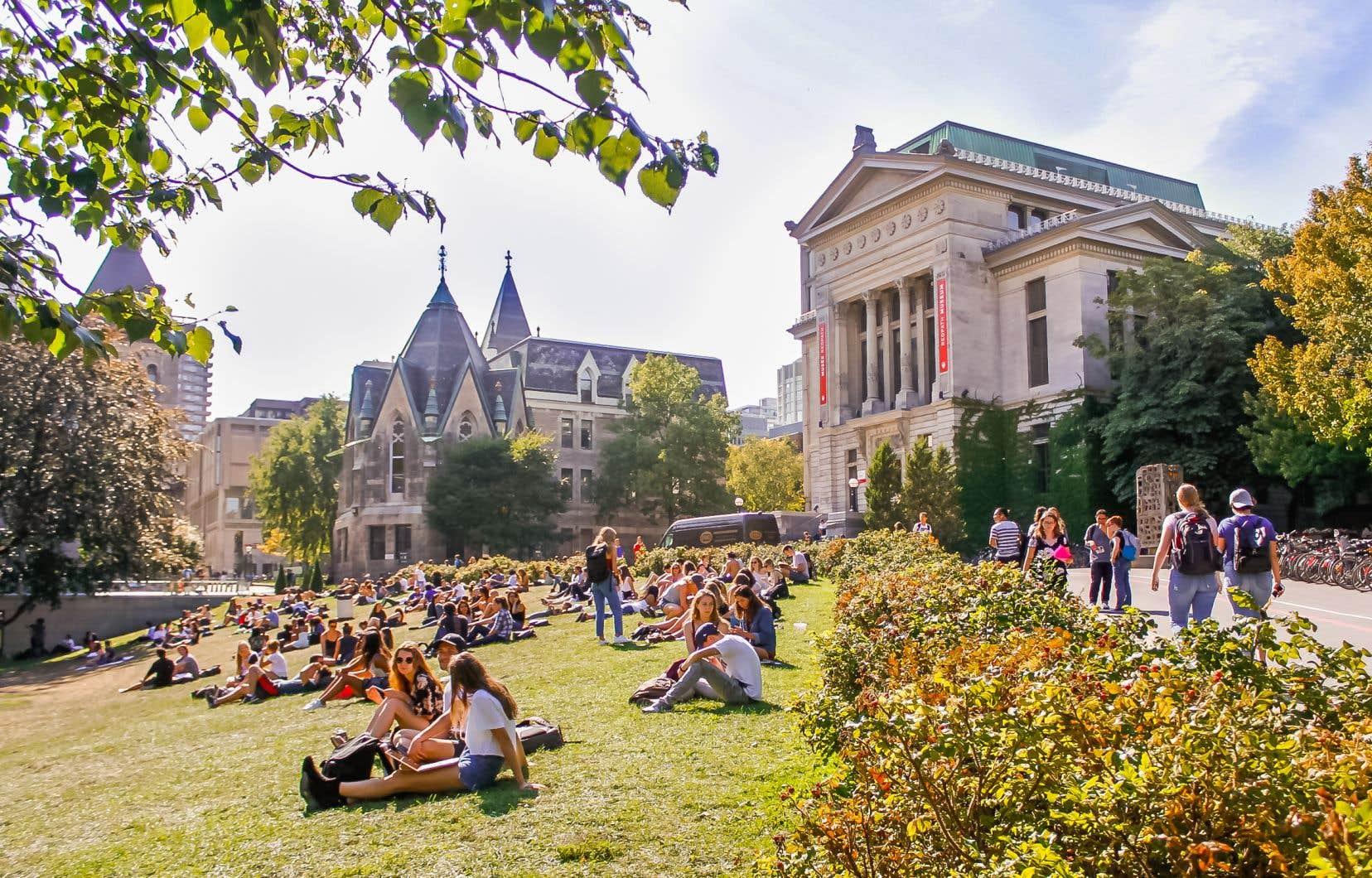 Le campus principal de l'Université McGill, situé en plein coeur de Montréal