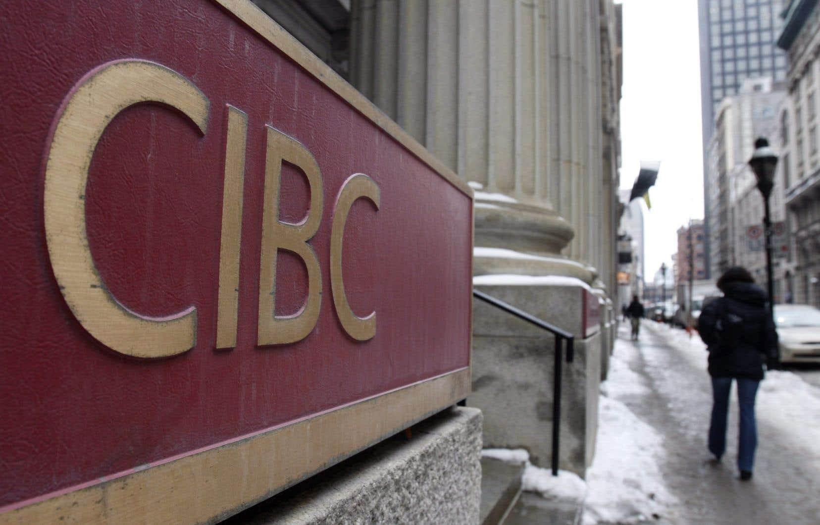 La Banque CIBC a dévoilé mercredi un bénéfice de 1,21milliard, ou 2,63$ par action, pour le trimestre clos le 31janvier.