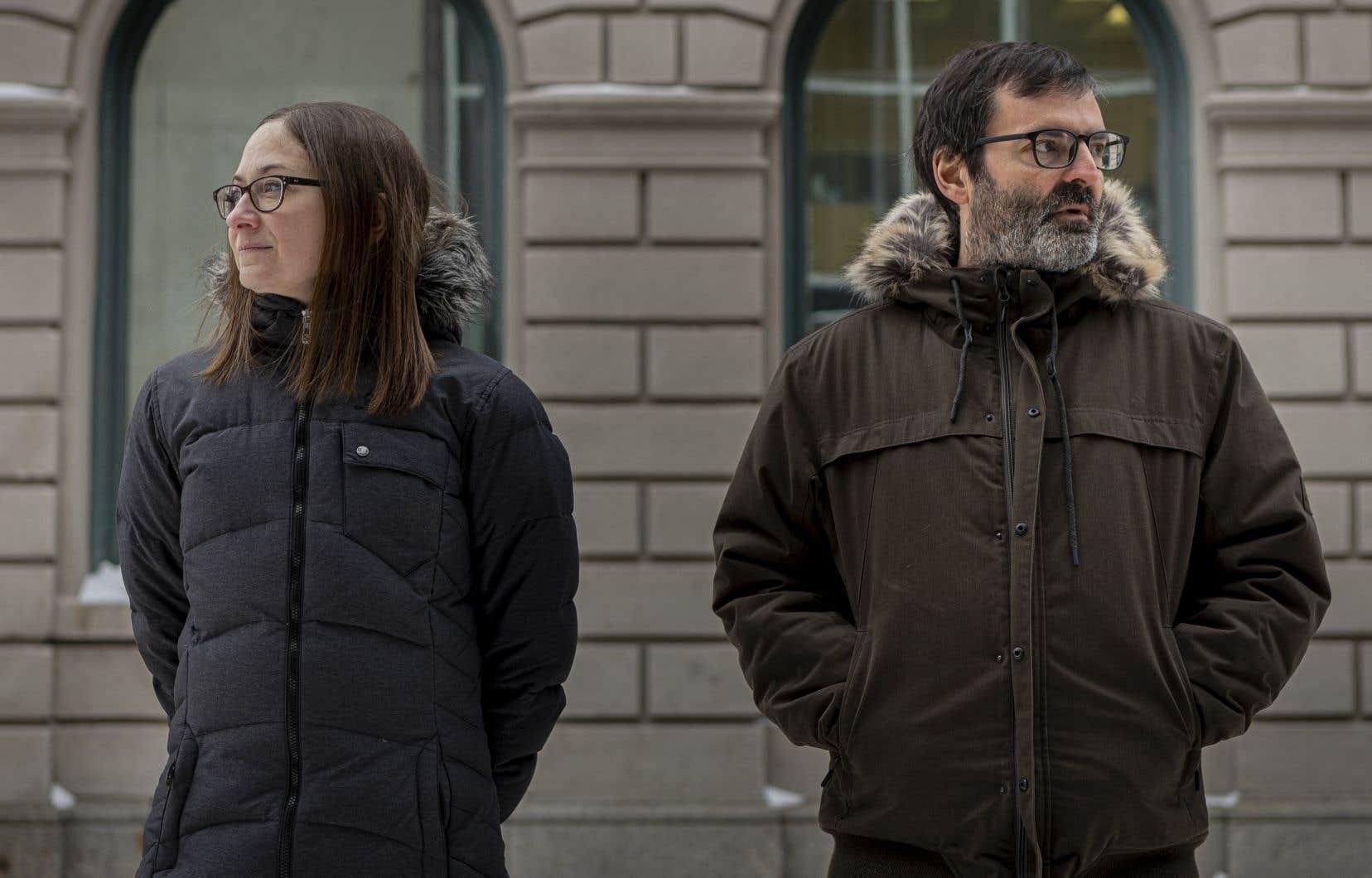 L'illustratrice Valérie Boivin et l'auteur François Blais, à Québec