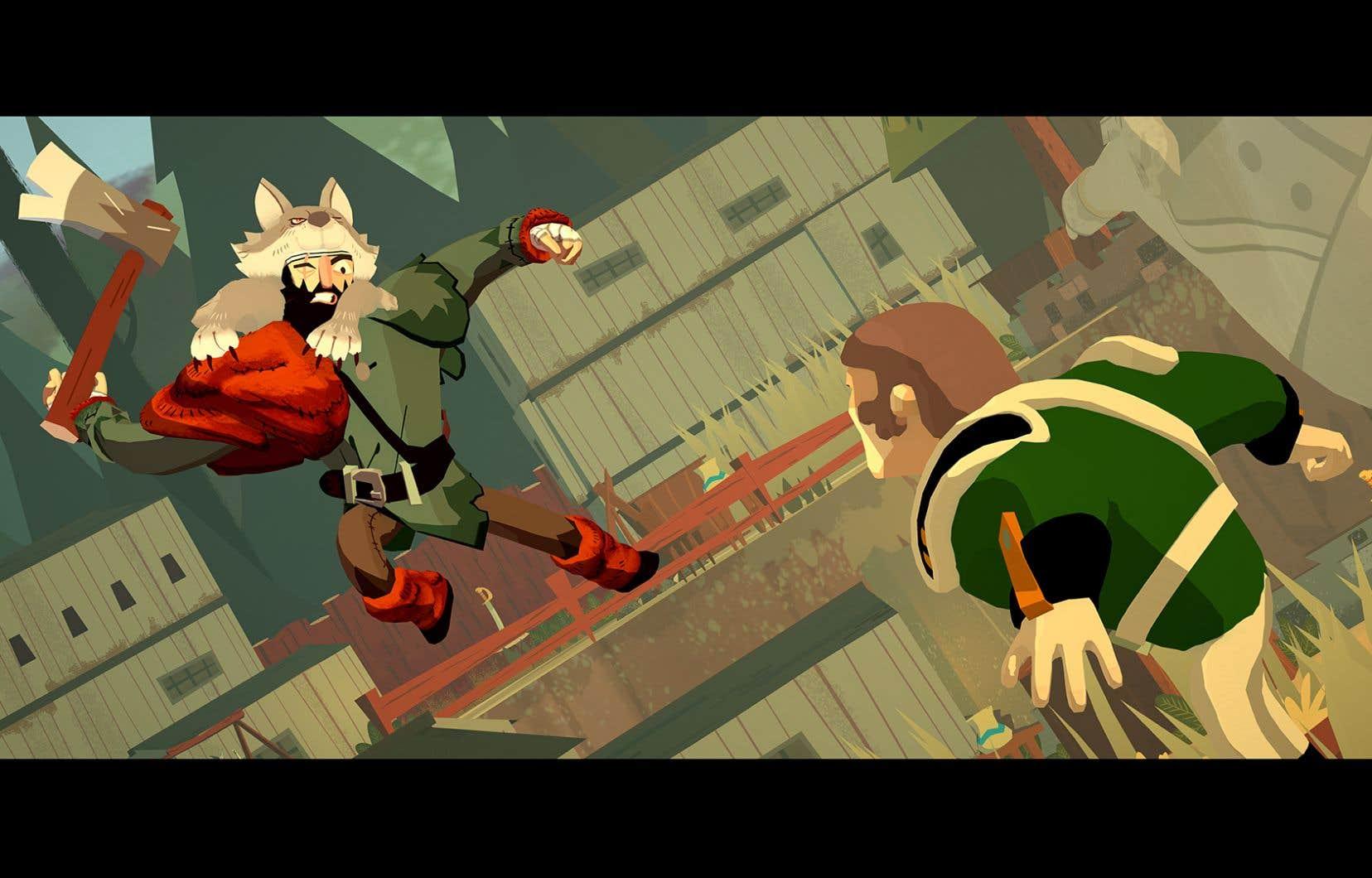 Le jeu met d'abord en scène M.Wolf, notre personnage principal, qui, en pleine scène hivernale, retourne au pas de course vers son village.
