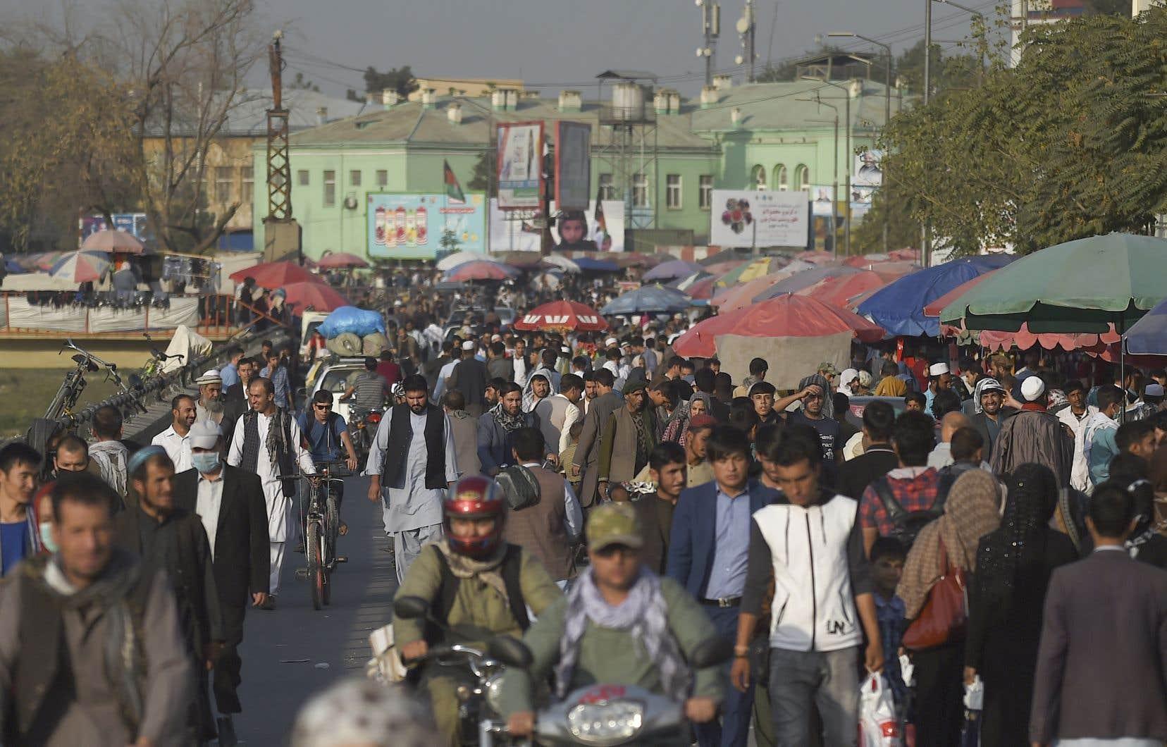 Un marché animé à Kaboul, en septembre dernier.