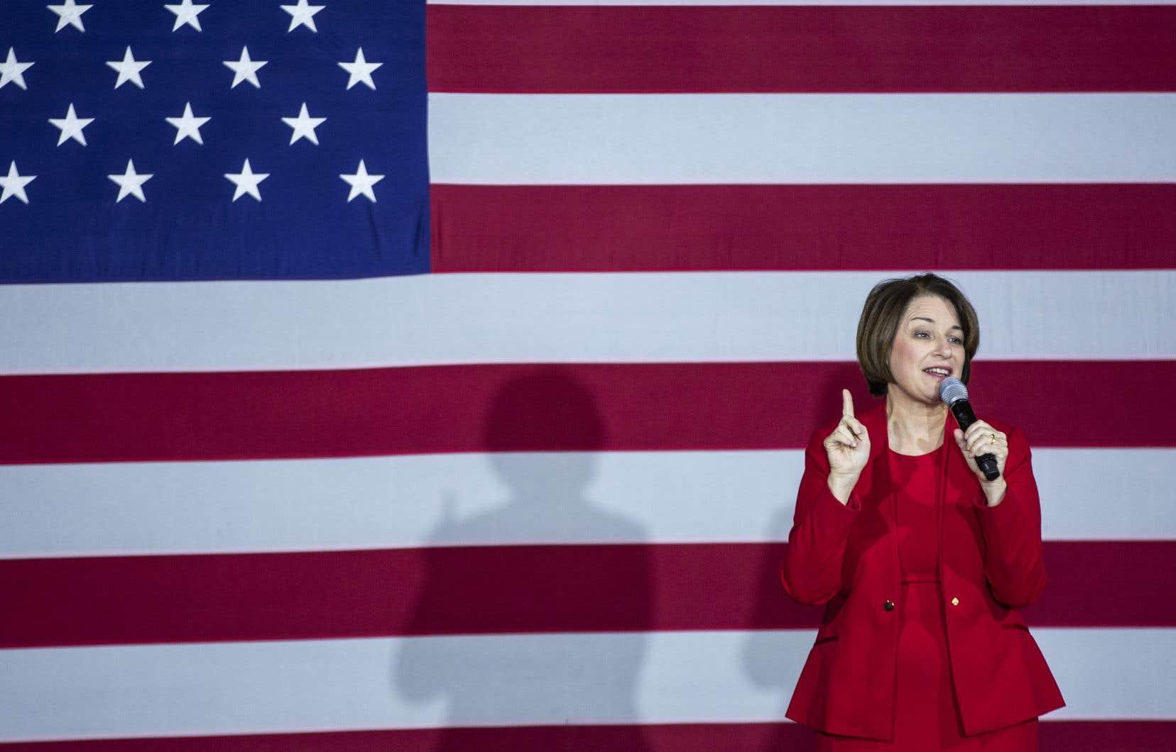 La sénatrice du Minnesota AmyKlobuchar durant un événement de campagne, le 29 février dernier