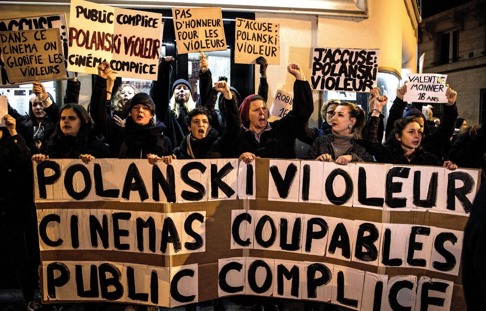 Des manifestantes avaient protesté contre la complaisance du milieu du cinéma français à l'endroit de Roman Polanski, en novembre dernier, à Paris.