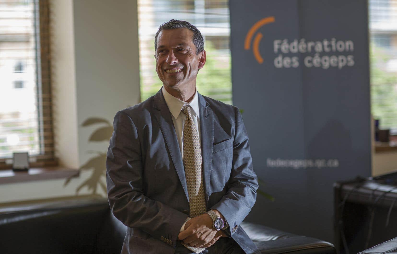 «C'est un projet que je trouve emballant», a déclaré lundi le président de la Fédération des cégeps, Bernard Tremblay.