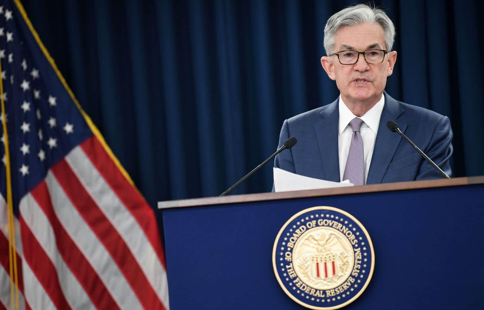 La décision de la Fed de baisser son taux directeur ouvre la porte à une action similaire de la Banque du Canada. Sur la photo, le président de l'institution, Jerome Powell