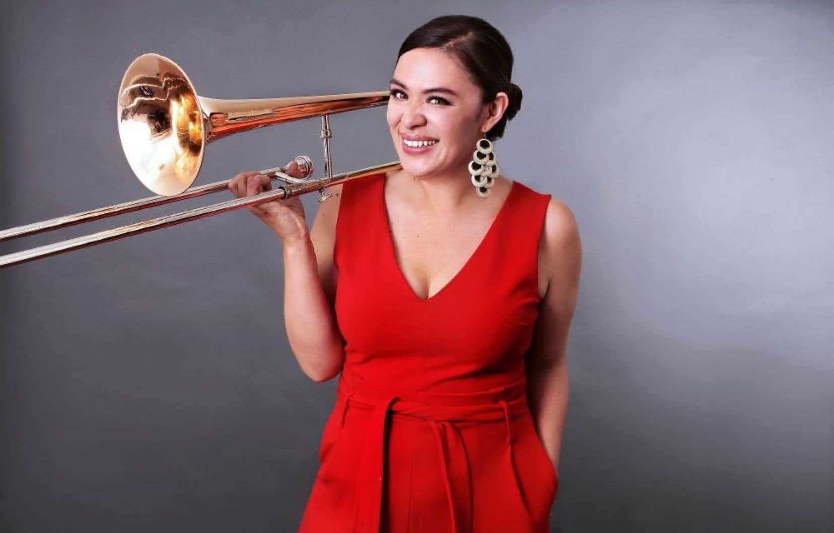La tromboniste de l'Alberta Audrey Ochoa vient de lancer l'album «Frankenhorn». Elle y dévoile son inclination pour la composition, l'arrangement.