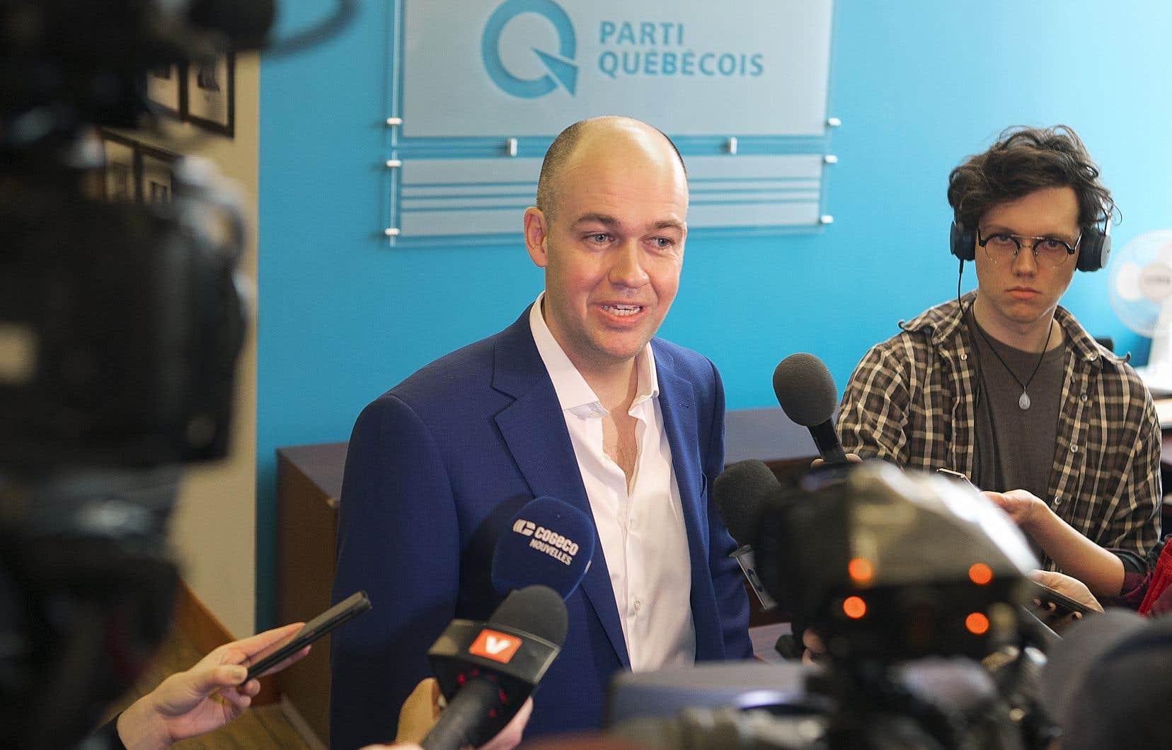 L'humoriste Guy Nantel est l'un des cinq candidats déclarés à la direction du Parti québécois.