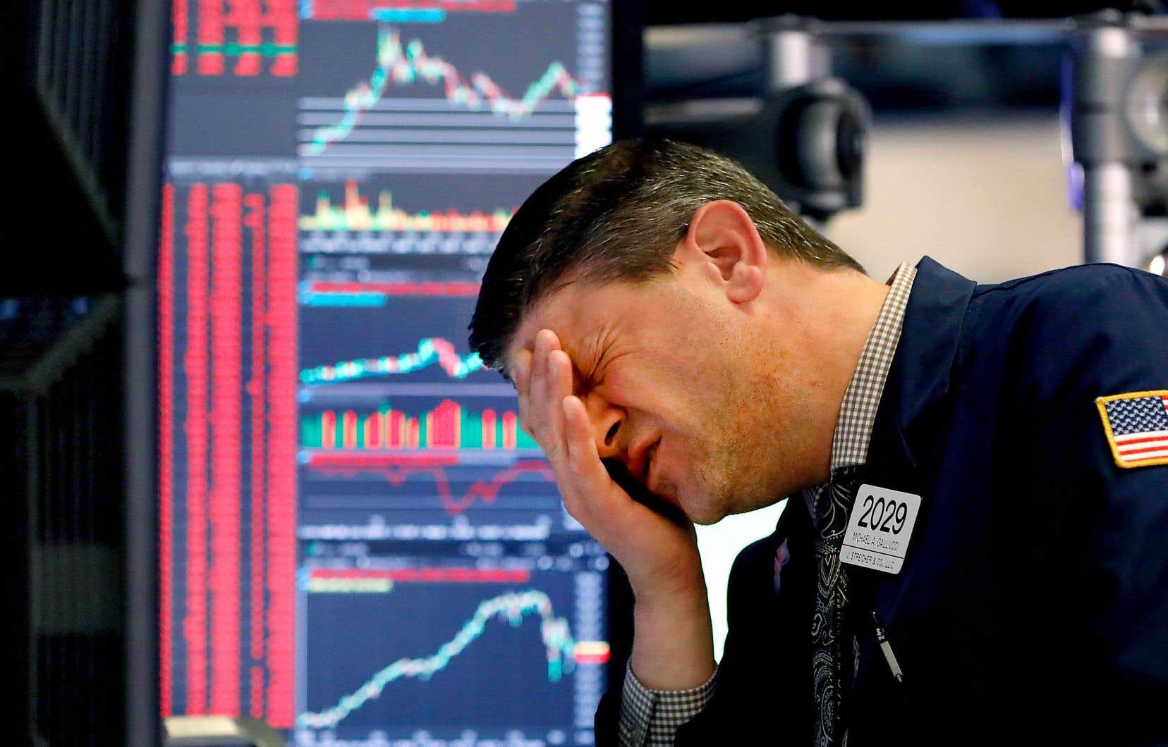 Le Dow Jones a plongé de 5,86% mercredi.