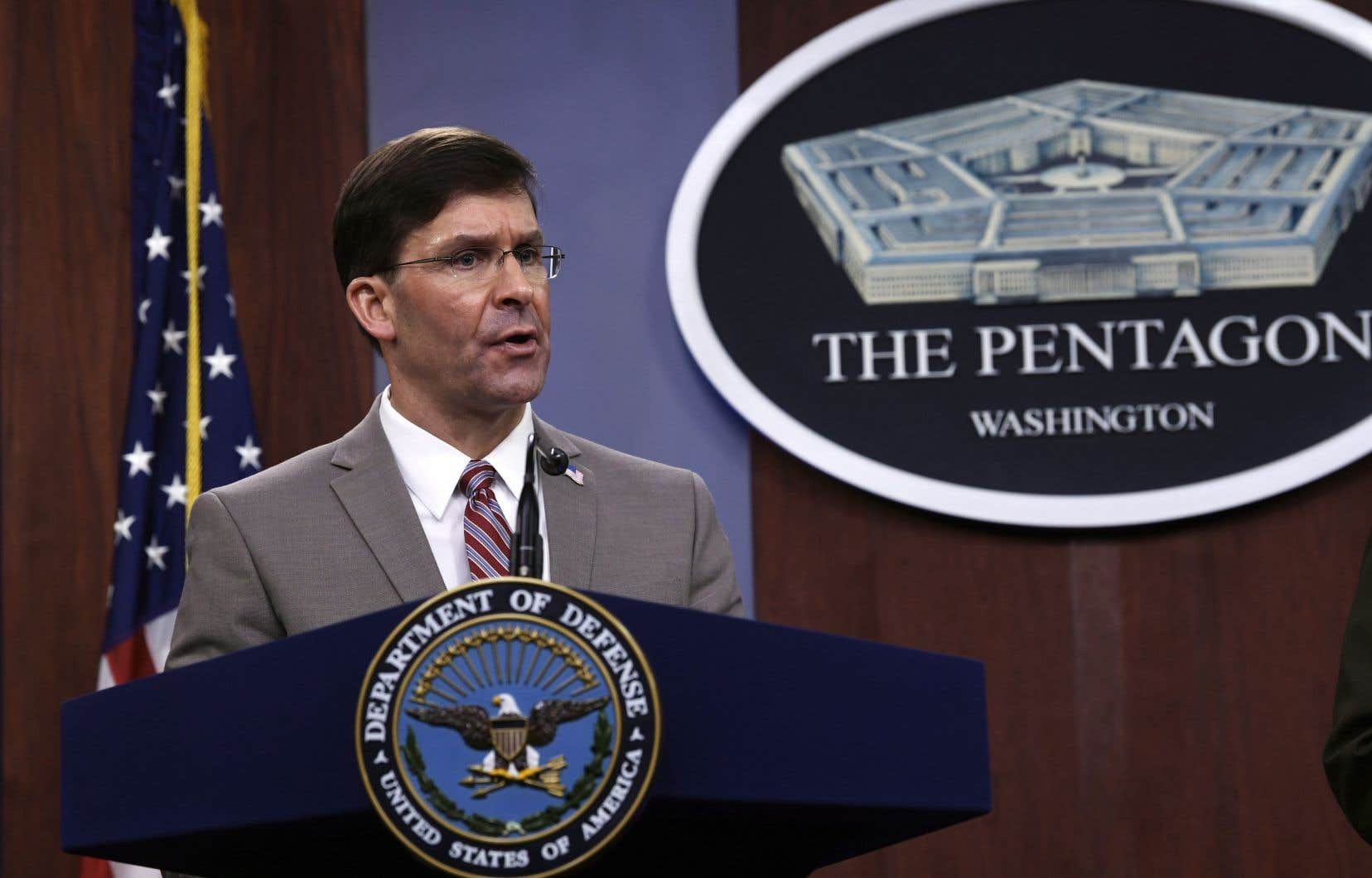 Le secrétaire américain de la Défense, Mark Esper