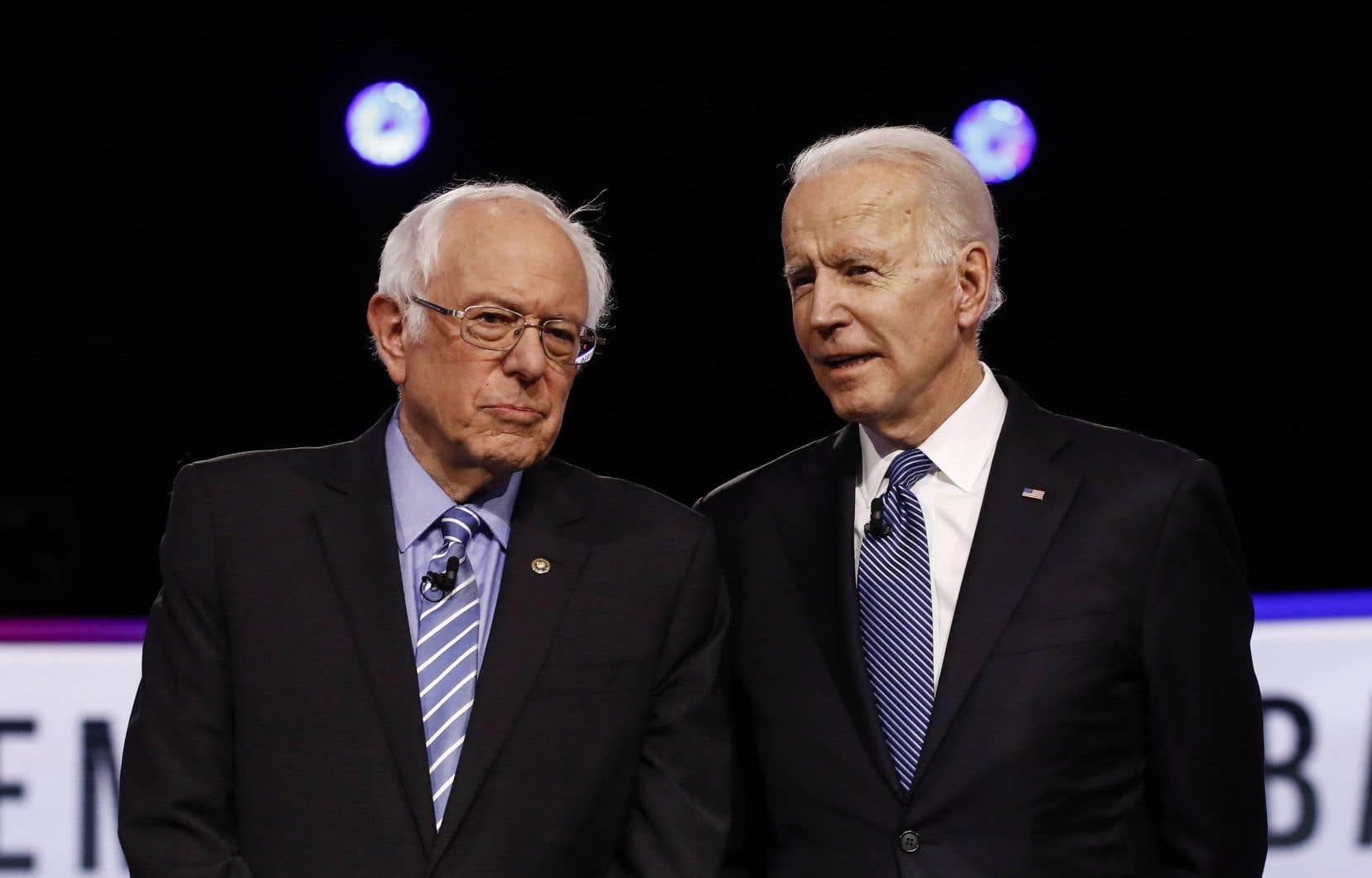 S'ils se sont écharpés sur leurs bilans respectifs, Joe Biden et Bernie Sanders ont aussi promis un front commun face au président républicain.