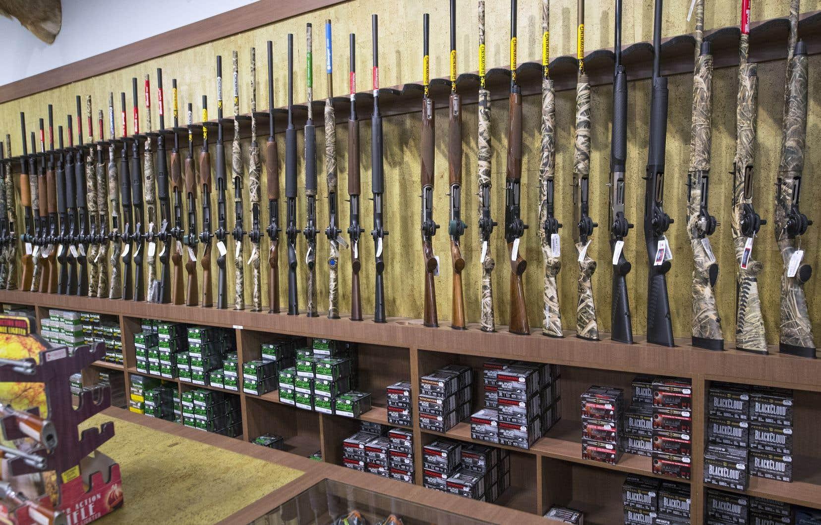 Plus de septmillions d'armes sont en circulation au Canada. Pour acquérir des munitions ou une arme, il faut au préalable posséder un permis d'armes à feu en règle.