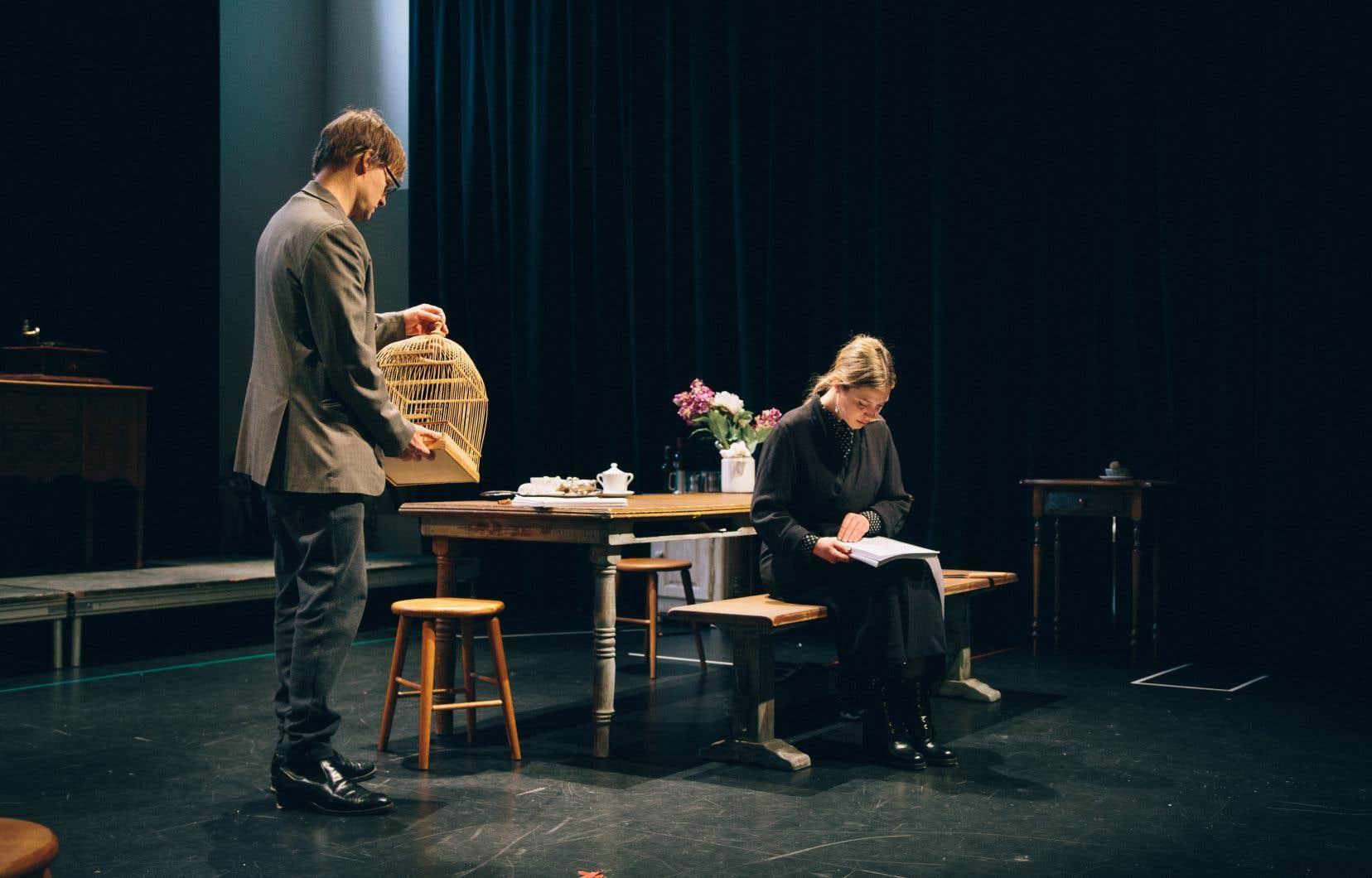 Une scène de«Mademoiselle Julie» que les amateurs pourront entendre, même si l'accès au théâtre n'est plus possible.