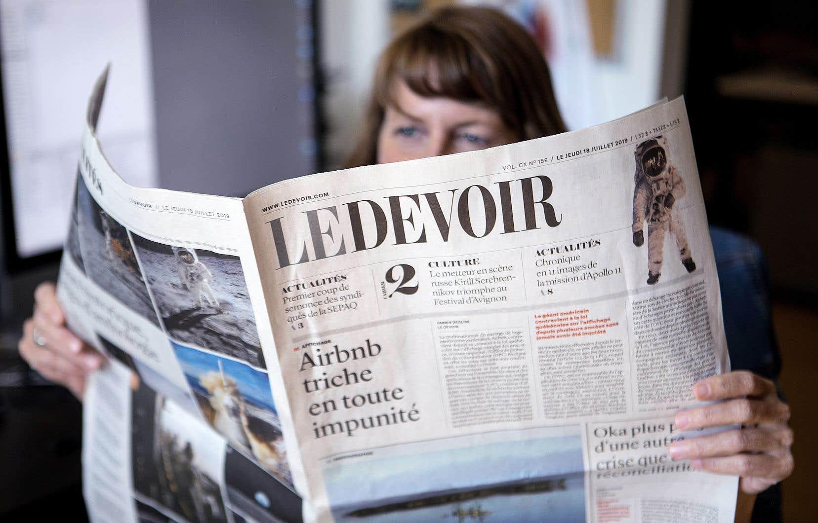 Trois éditoriaux de la rédactrice en chef du «Devoir», Marie-Andrée Chouinard, et un cliché d'actualité du photographe Jacques Nadeau sont en lice pour remporter des prix auConcours canadien de journalisme.