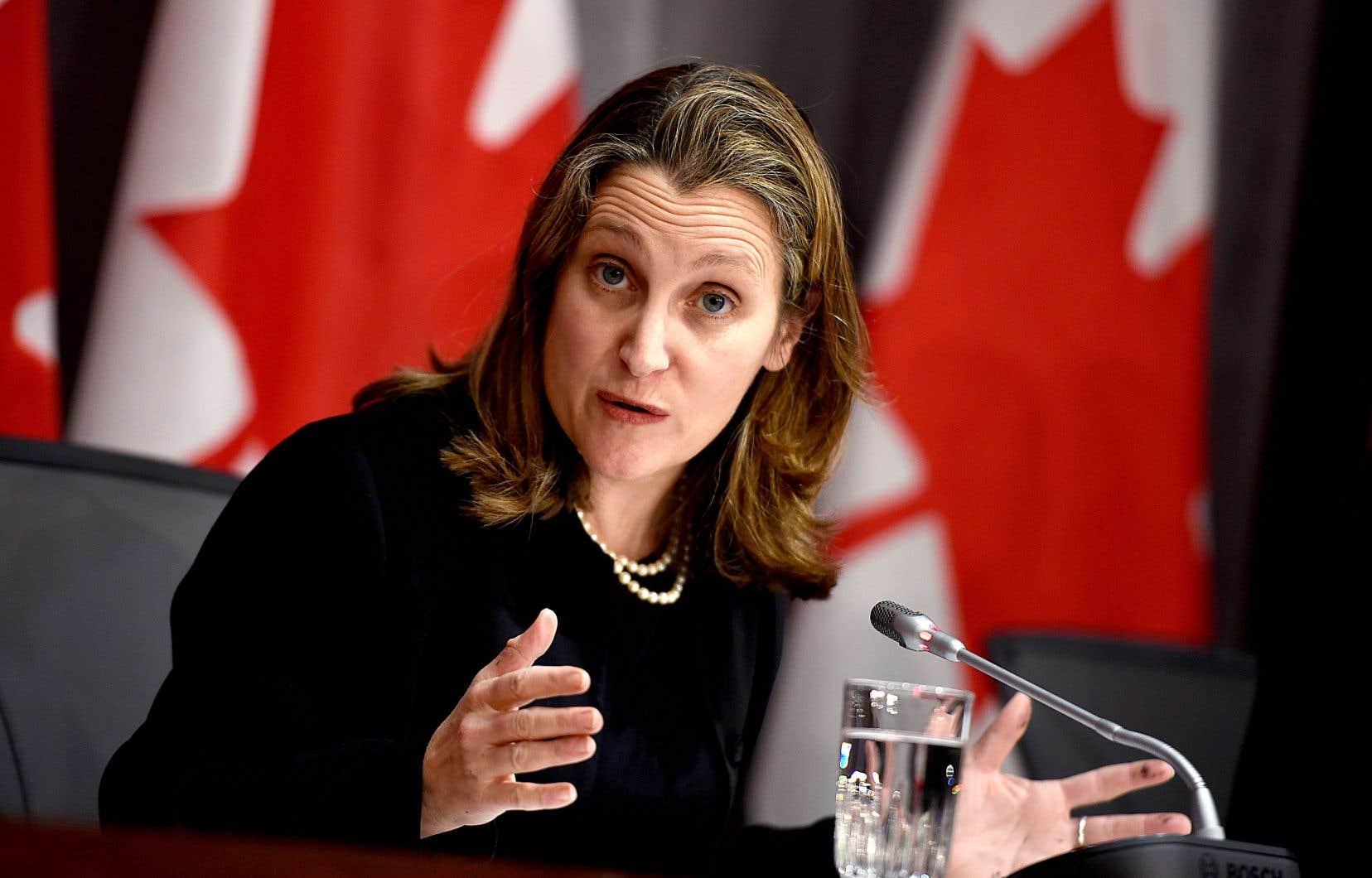 Jeudi, la vice-première ministre du Canada, Chrystia Freeland a dit avoir travaillé «en étroite collaboration» avec le gouvernement du Québec pour en arriver à une entente.
