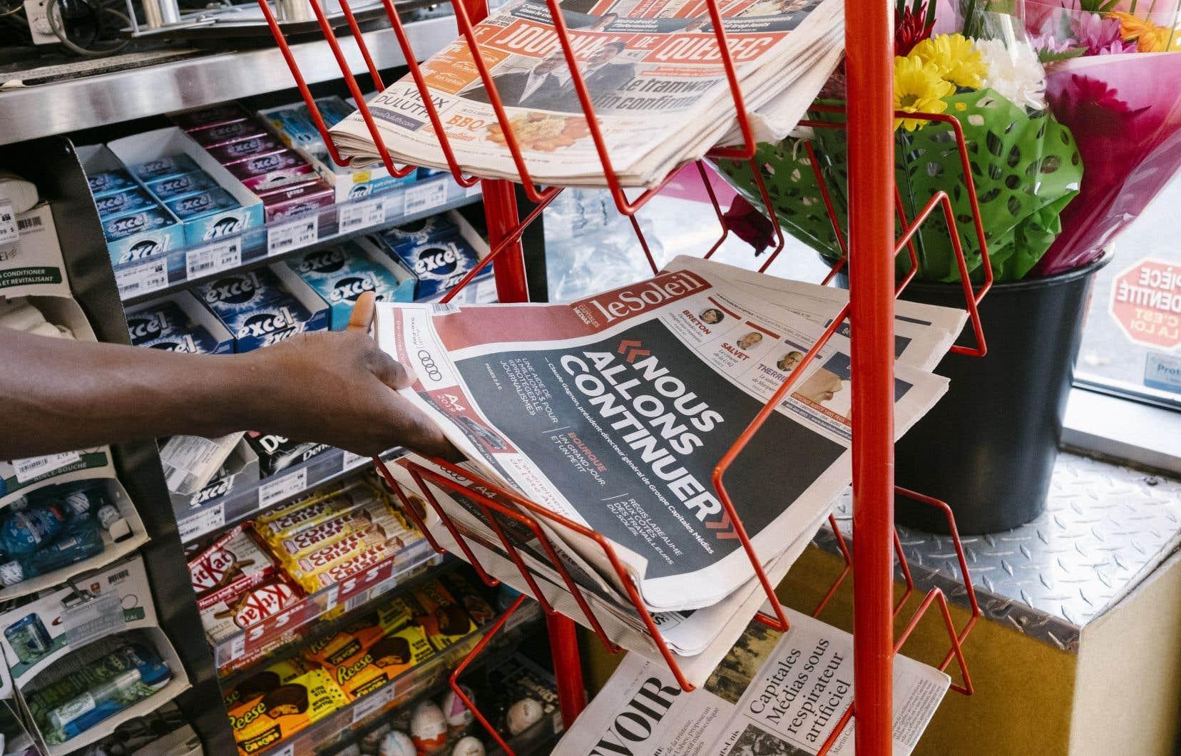 La Coopérative regroupe les journaux <em>Le Soleil</em> (Quebec), <em>Le Droit</em> (Ottawa), <em>La Tribune</em> (Sherbrooke), <em>Le Nouvelliste</em> (Trois Rivieres), <em>La Voix de l'Est</em> (Granby), <em>Le Quotidien</em> (Saguenay).