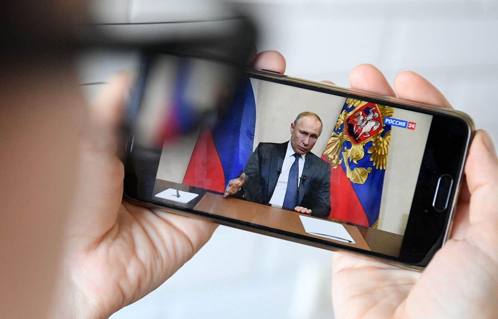 Le président russeVladimir Poutinen'a pas déclaré de confinement de la population, comme c'est le cas ailleurs dans le monde.