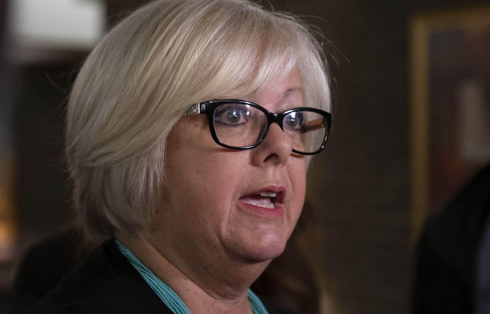 La ministre responsable des Affaires autochtones, Sylvie D'Amours