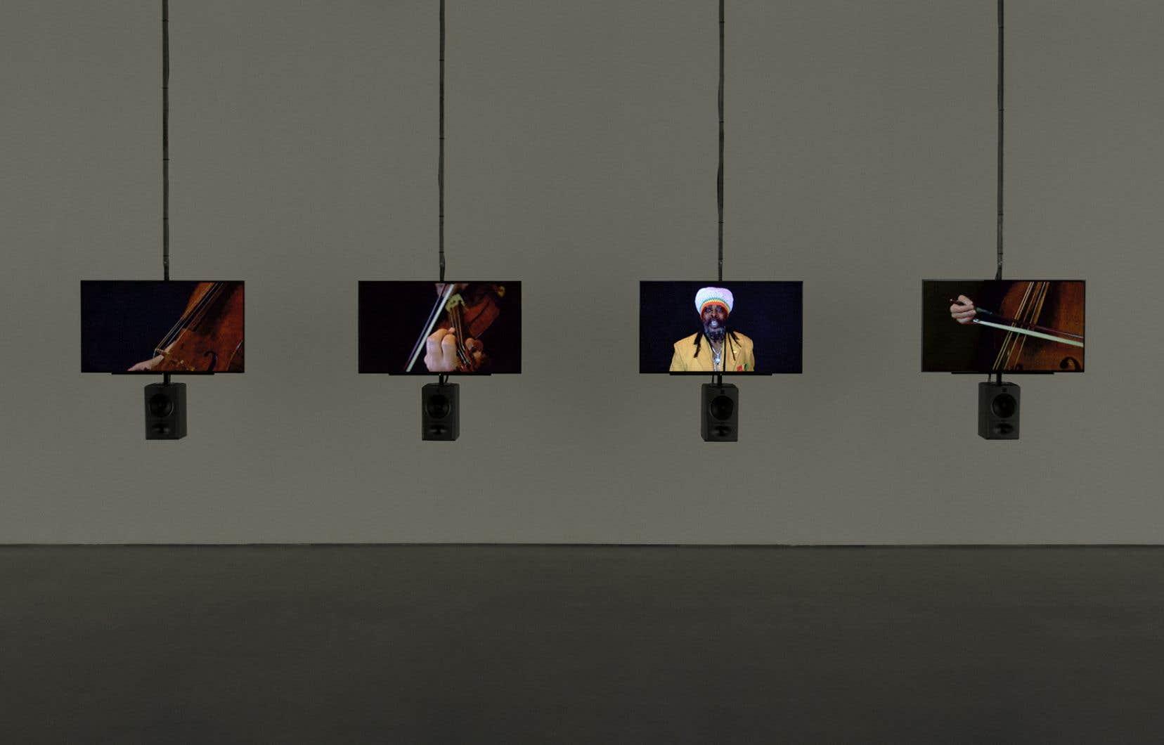 Vue de l'exposition «Graham Fagen. Complainte de l'esclave», 2017, Galerie de l'UQAM