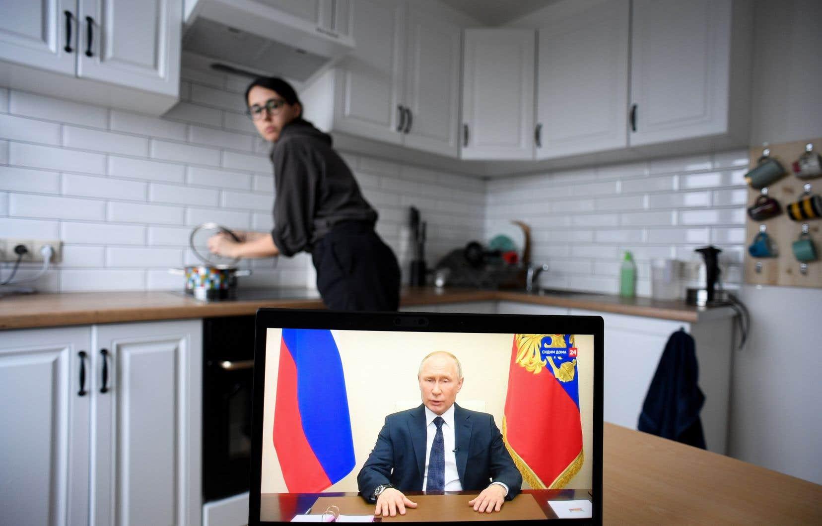 Le président russe, Vladimir Poutine, a participé à une deuxième intervention télévisée sur la pandémie en un peu plus d'une semaine.