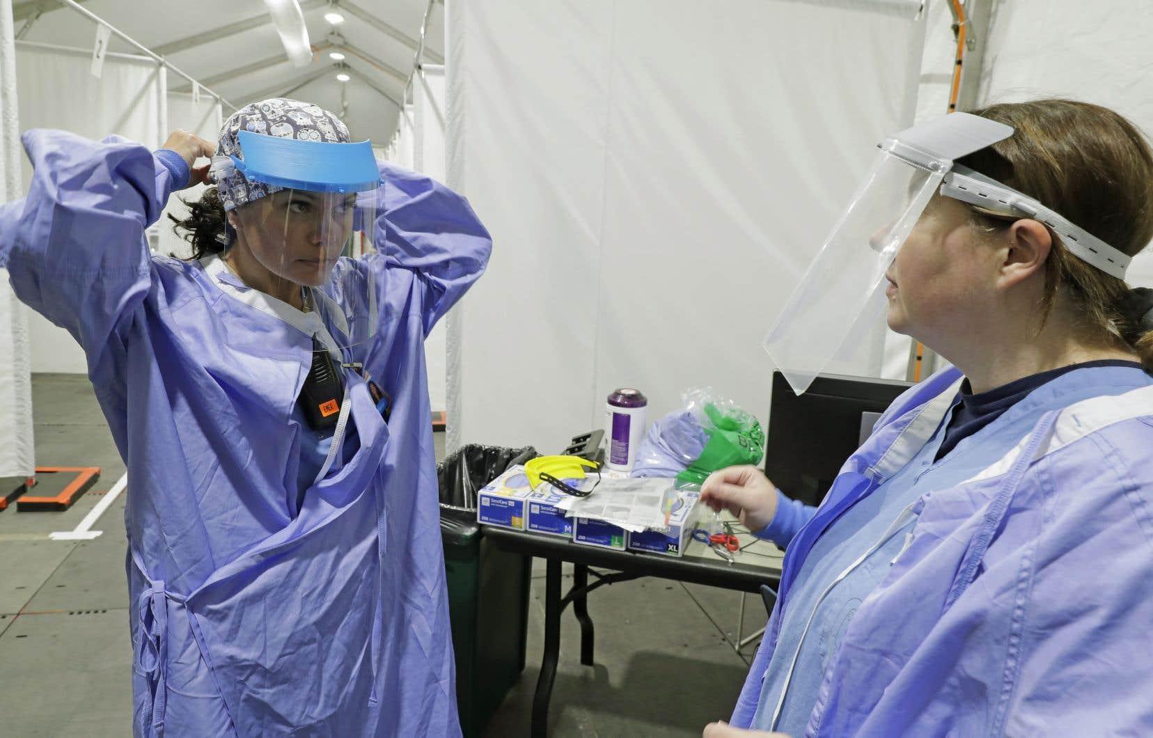 Pour le moment, il est question de blouses de protection lavables pour les médecins, les infirmières ou encore les ambulanciers.