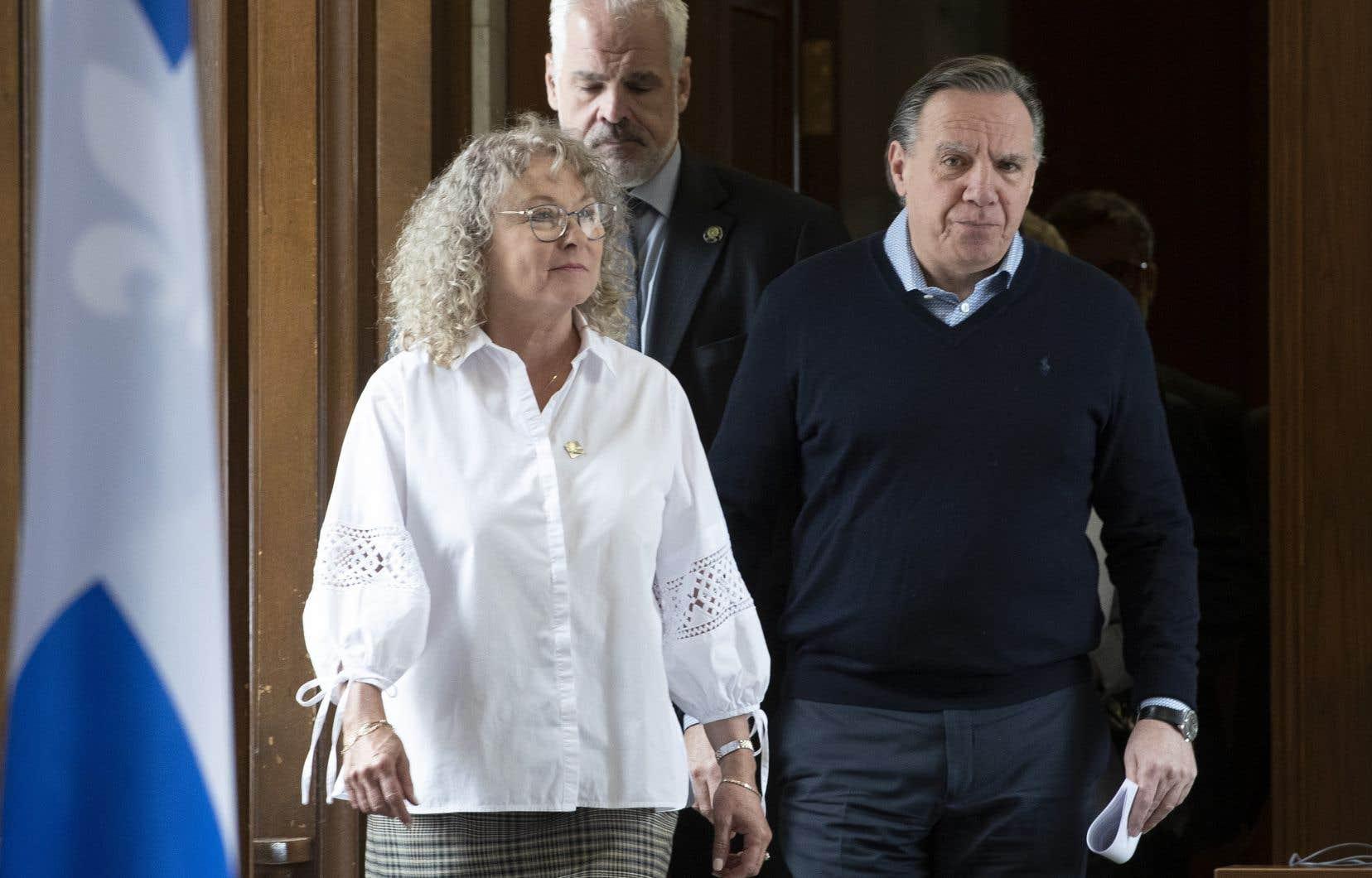 La ministre des Aînés, Marguerite Blais, et le premier ministre François Legault