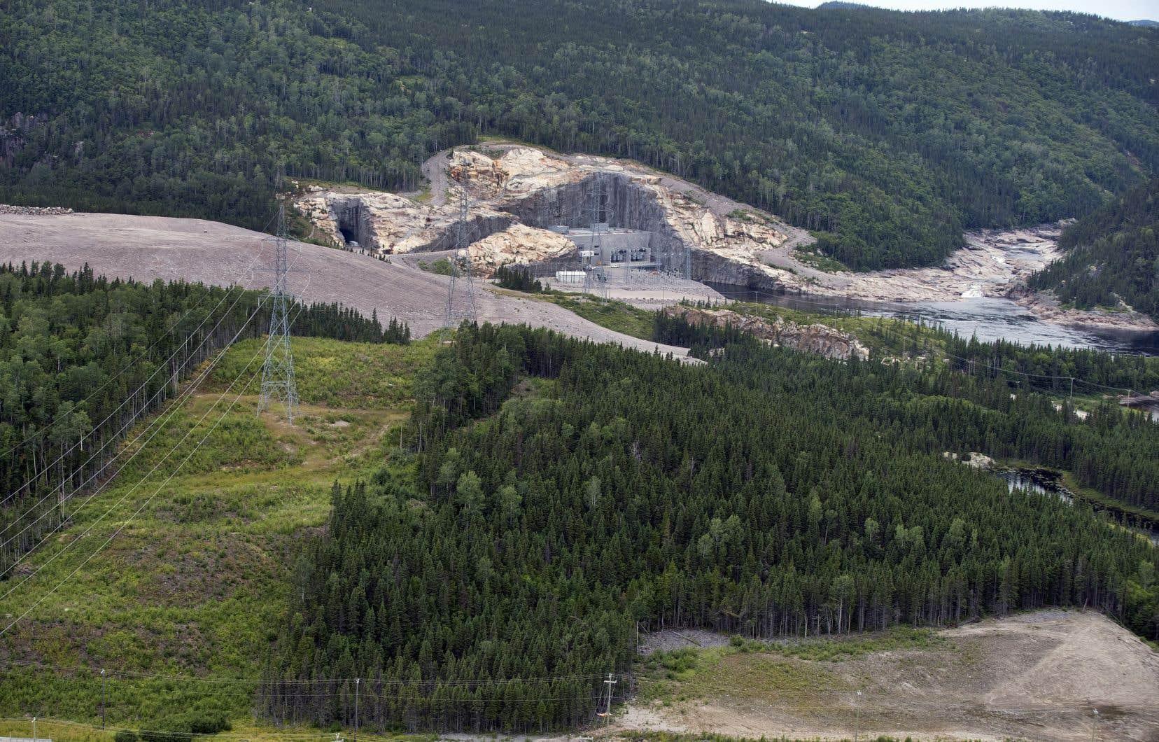 Le chantier de la centrale hydroélectrique Romaine-4, sur la Côte-Nord du Québec, qui devrait être mise en service en 2021