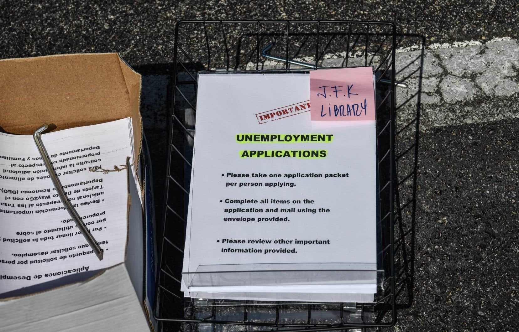 En un mois, ce sont plus de 20millions de personnes qui ont demandé une allocation-chômage pour la première fois.