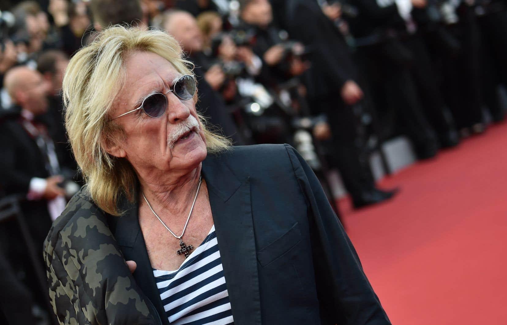 Le chanteur français Christophe à Cannes en 2015