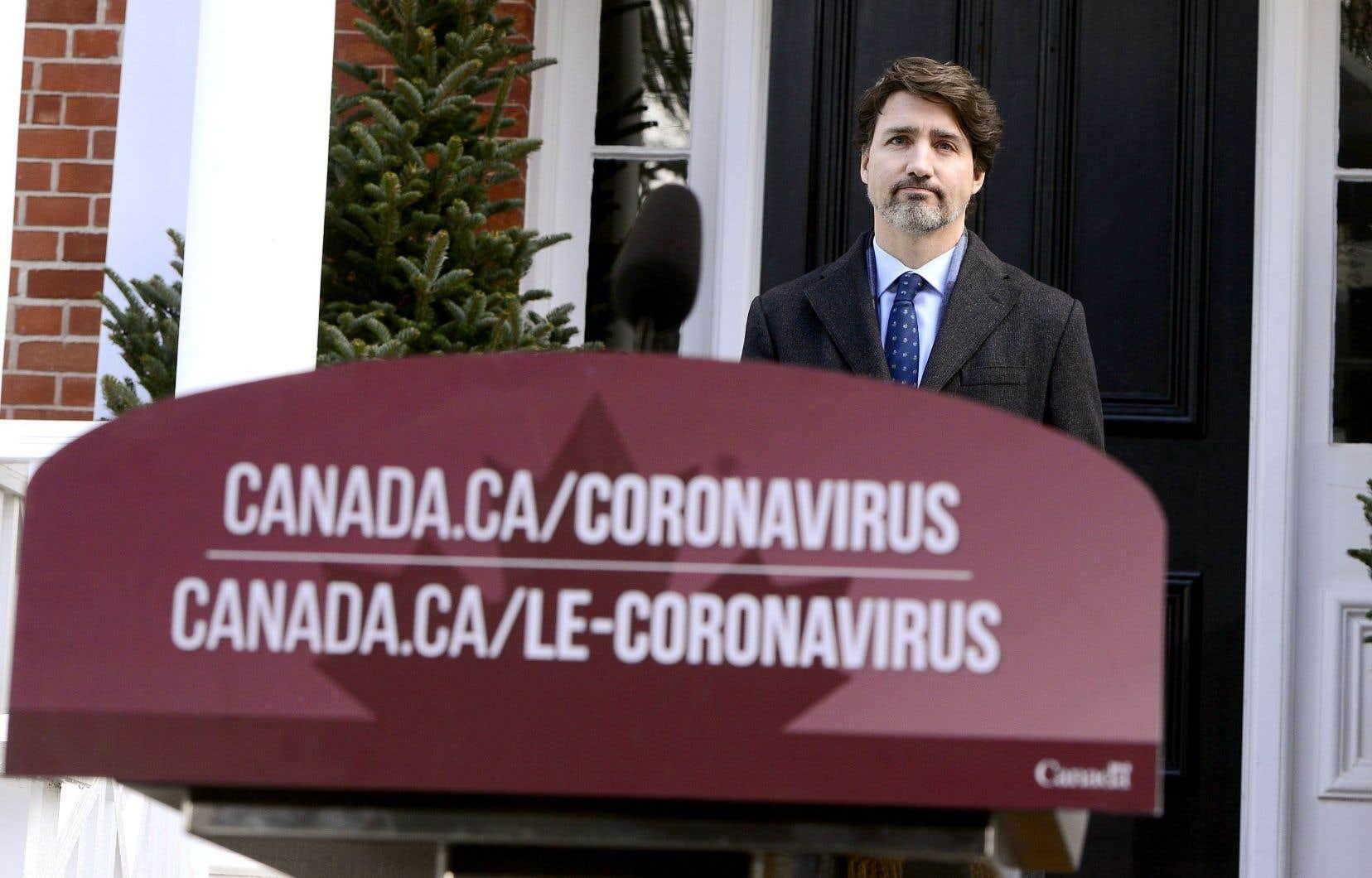 Le premier ministre Justin Trudeau estime que la pandémie a tendance à se calmer au pays.