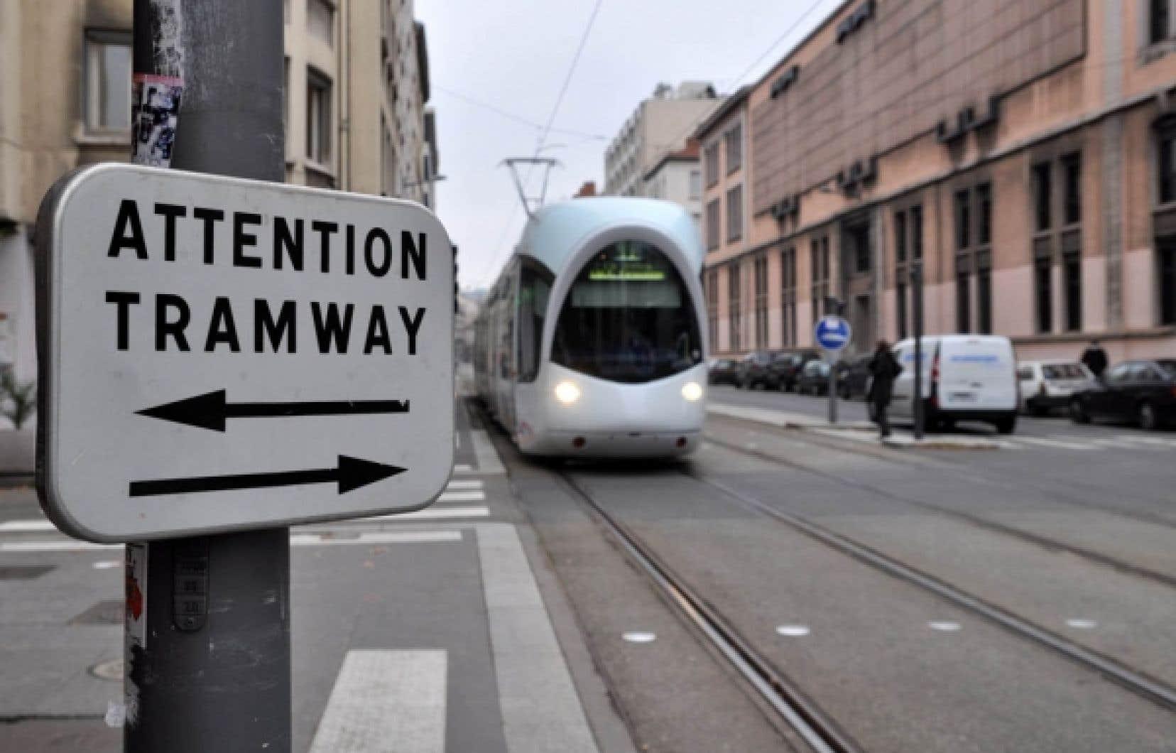 Le tramway à Lyon<br />