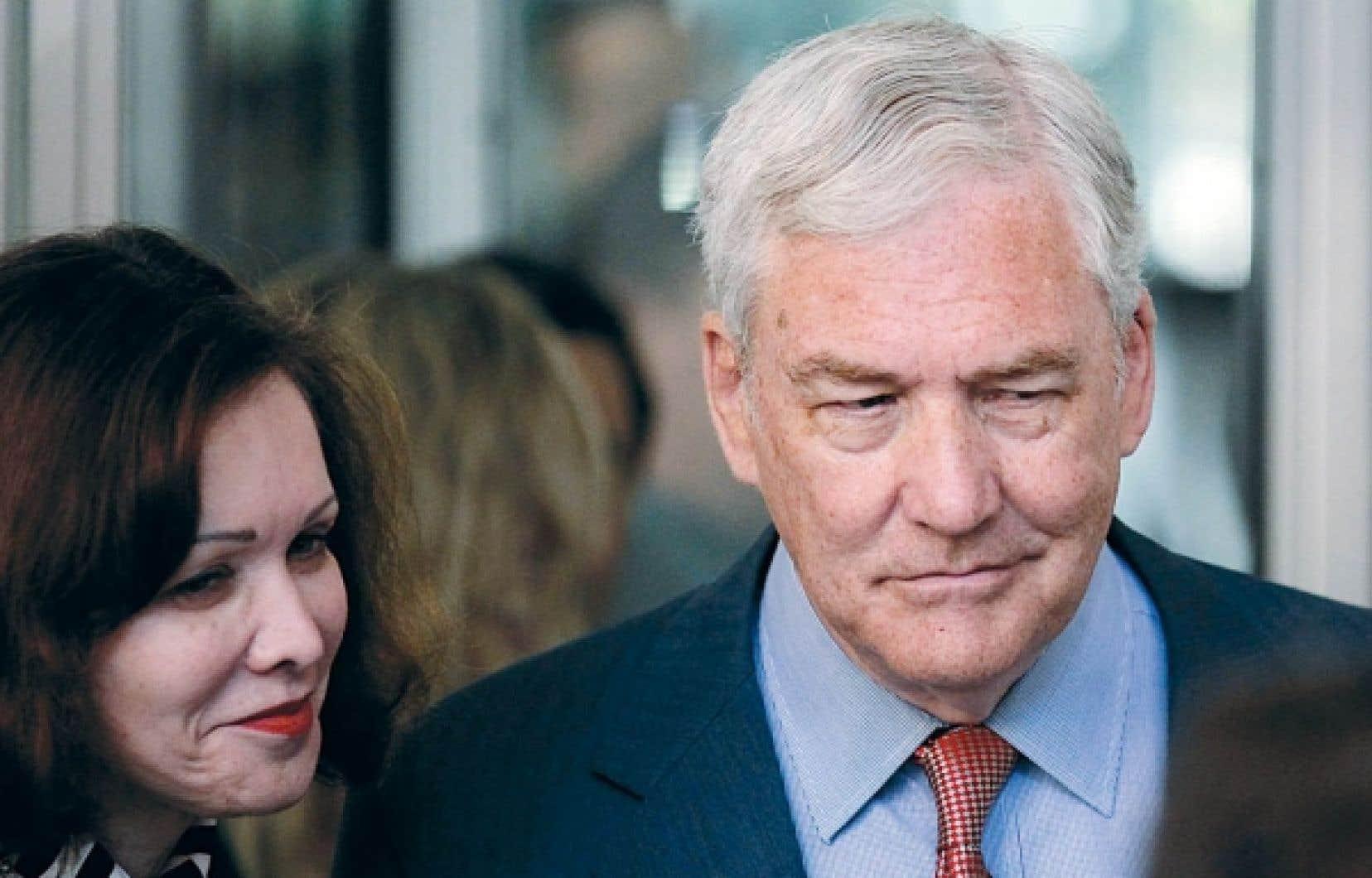 Conrad Black et son épouse, Barbara Amiel<br />