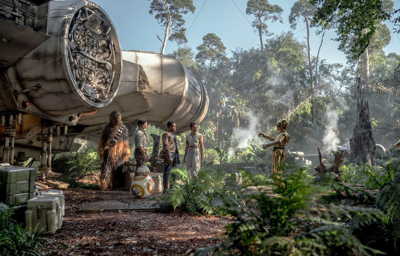 Chewbacca (Joonas Suotamo), Poe (Oscar Isaac), Finn (John Boyega), Rey (Daisy Ridley) et C-3PO (Anthony Daniels) dans «L'ascension de Skywalker».