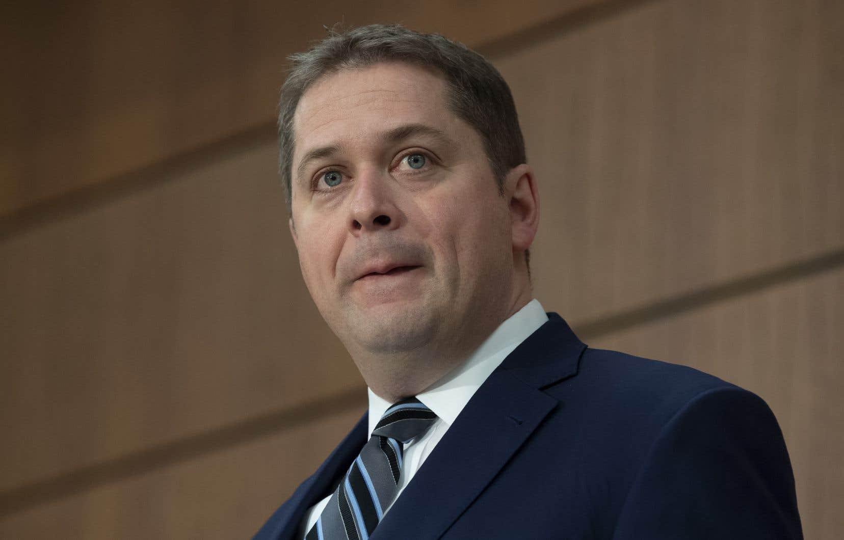 Andrew Scheer dit qu'il va mettre de la pression pour que le gouvernement soit «transparent» avec les Canadiens dans les meilleurs délais.