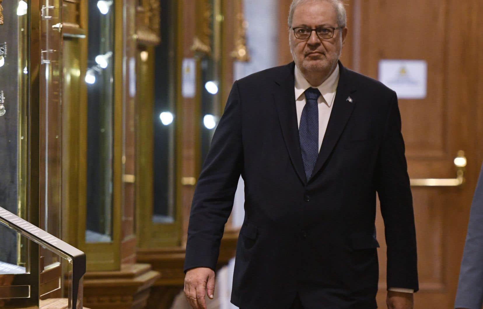Le chef intérimaire du PLQ, Pierre Arcand