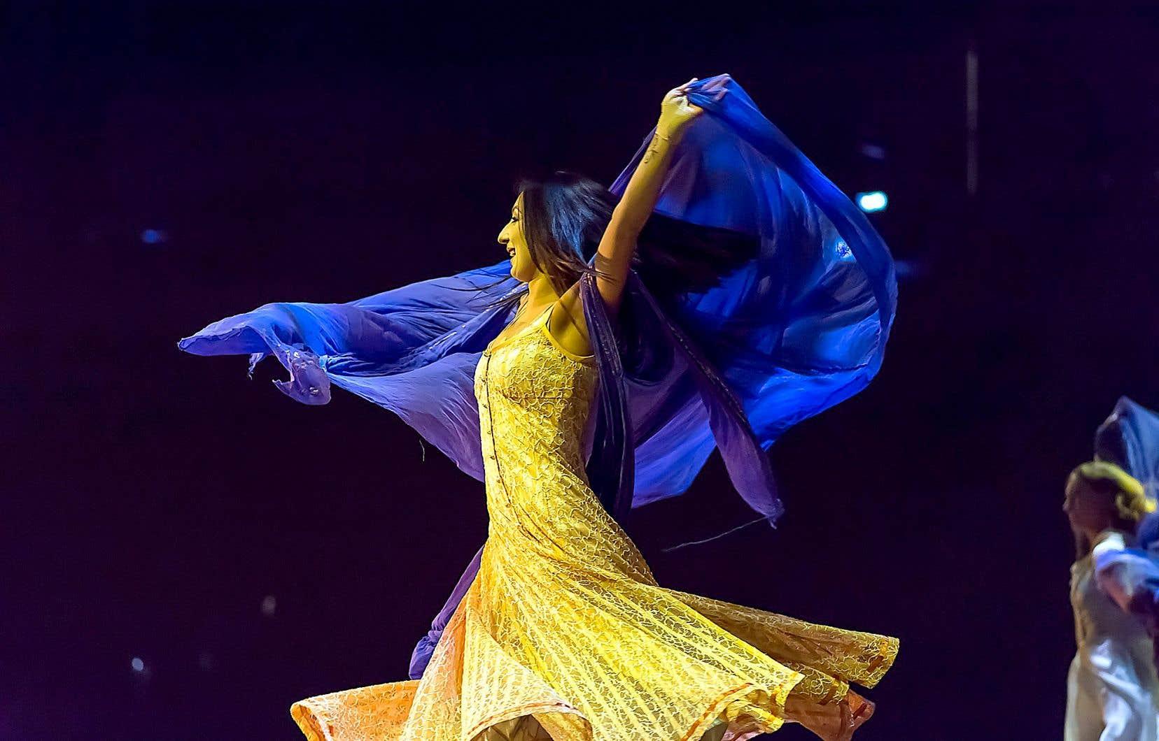 Une scène du spectacle «Corteo», du Cirque du Soleil