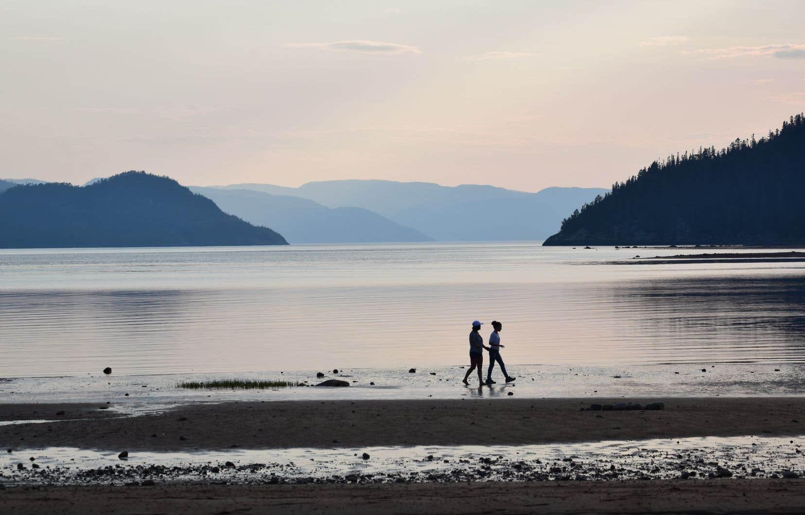 La baie Sainte-Marguerite, dans le parc national du Fjord-du-Saguenay