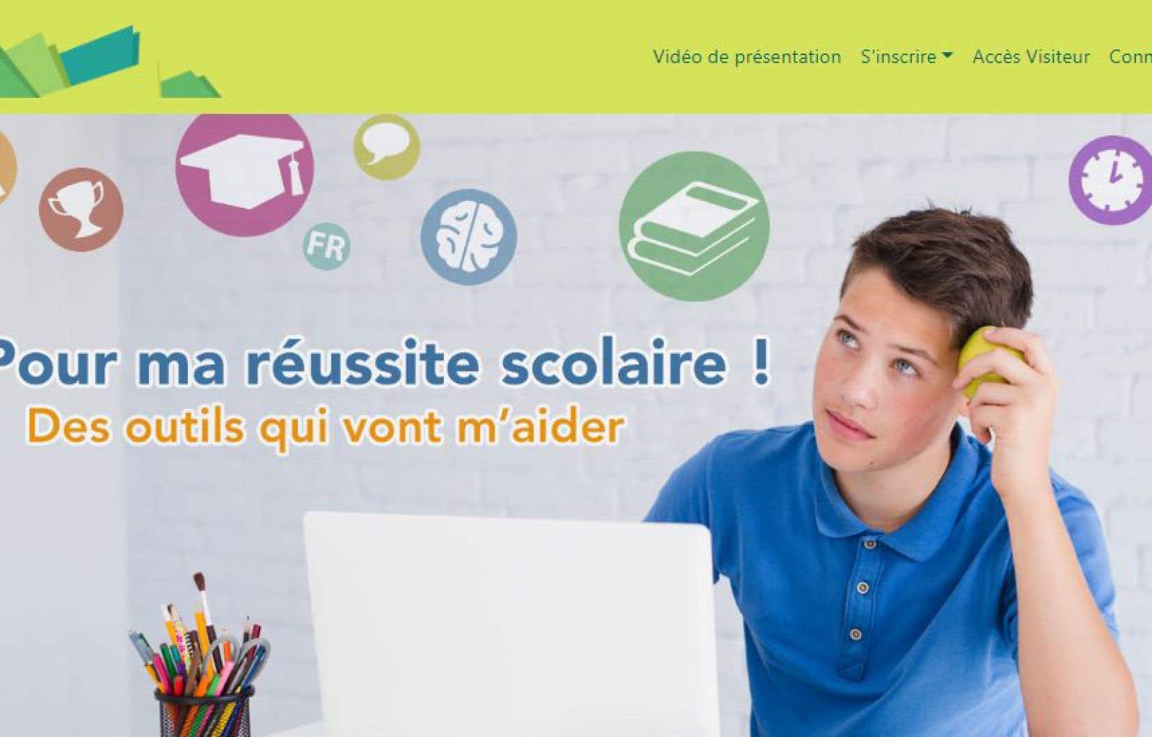 La plateforme en ligne a été lancée officiellement en mars dernier, dans un contexte où bon nombre d'élèves poursuivent leur scolarisation à la maison.