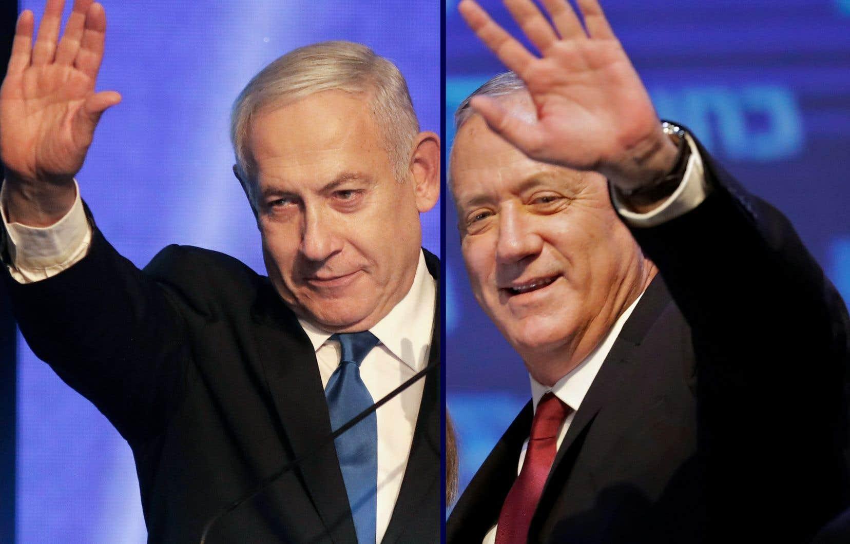 Benjamin Nétanyahou et Benny Gantz seront tour à tour premier ministre d'Israël pendant 18 mois.
