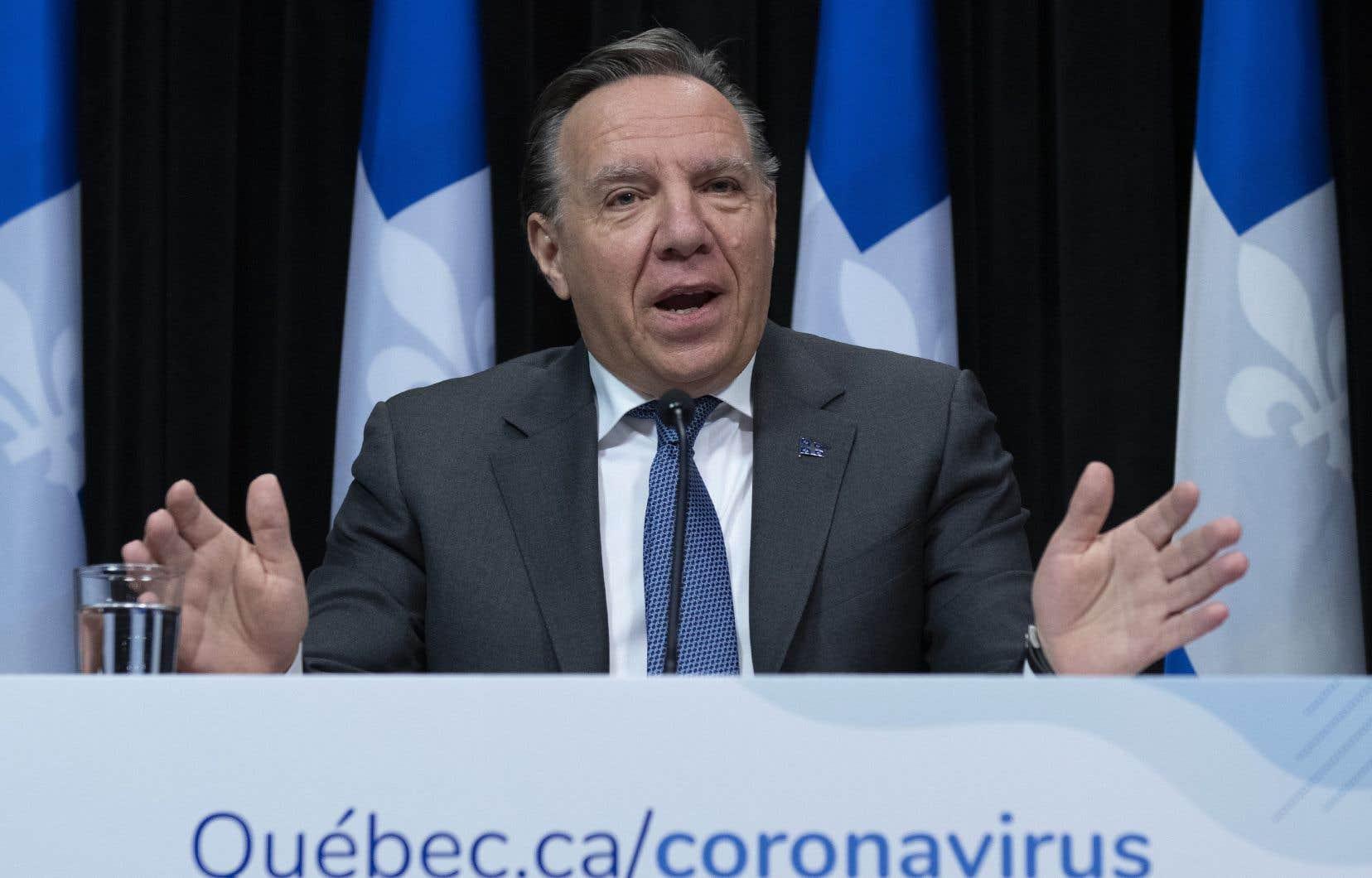 Le premier ministre François Legault fait le point sur la pandémie de coronavirus au Québec.