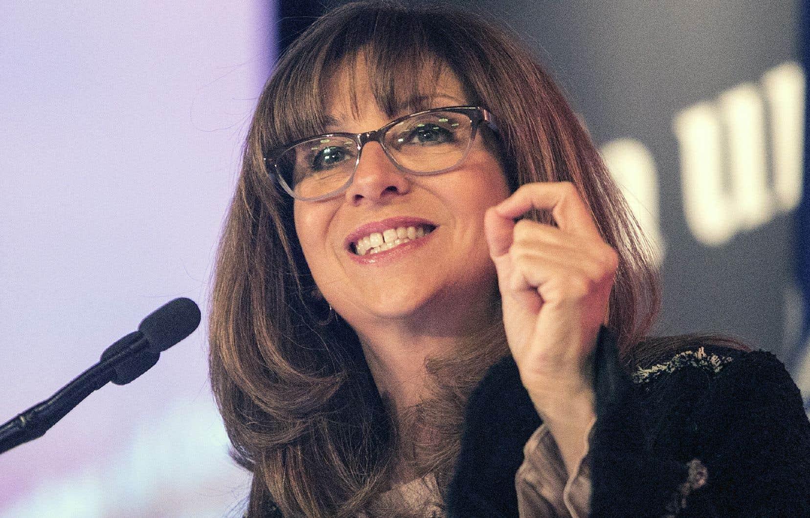 La ministre de la Culture, Nathalie Roy