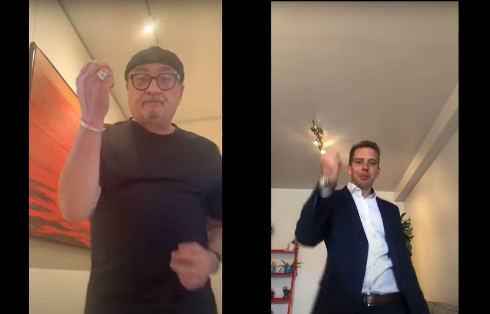 Le Dr Horacio Arruda a dansé avec Rod Le Stod pour le vidéoclip d'une chanson qui lui rend en partie hommage.