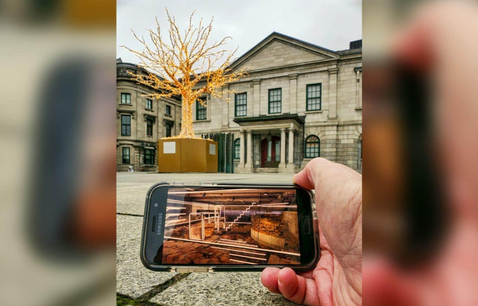 Le public peut explorer les expositions permanentes du musée au moyen d'un ordinateur, d'une tablette ou d'un téléphone.