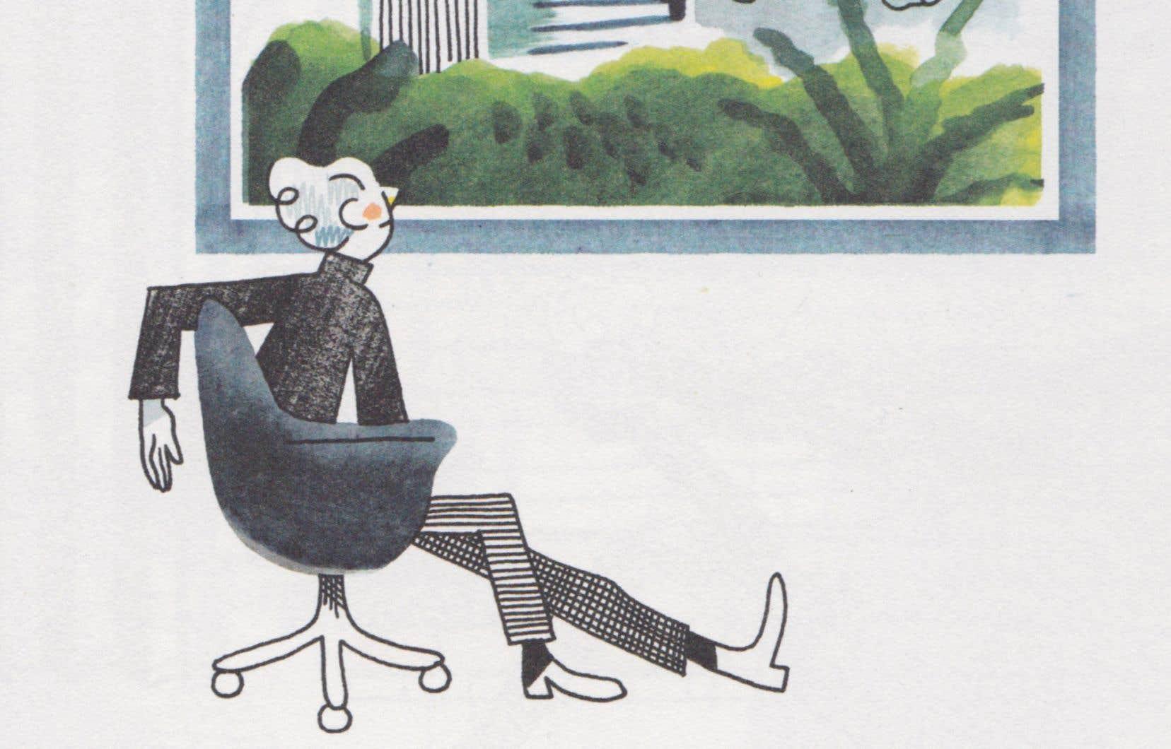 Détail d'une illustration tirée du livre «Mauvaise herbe», de Thibaut Rassat